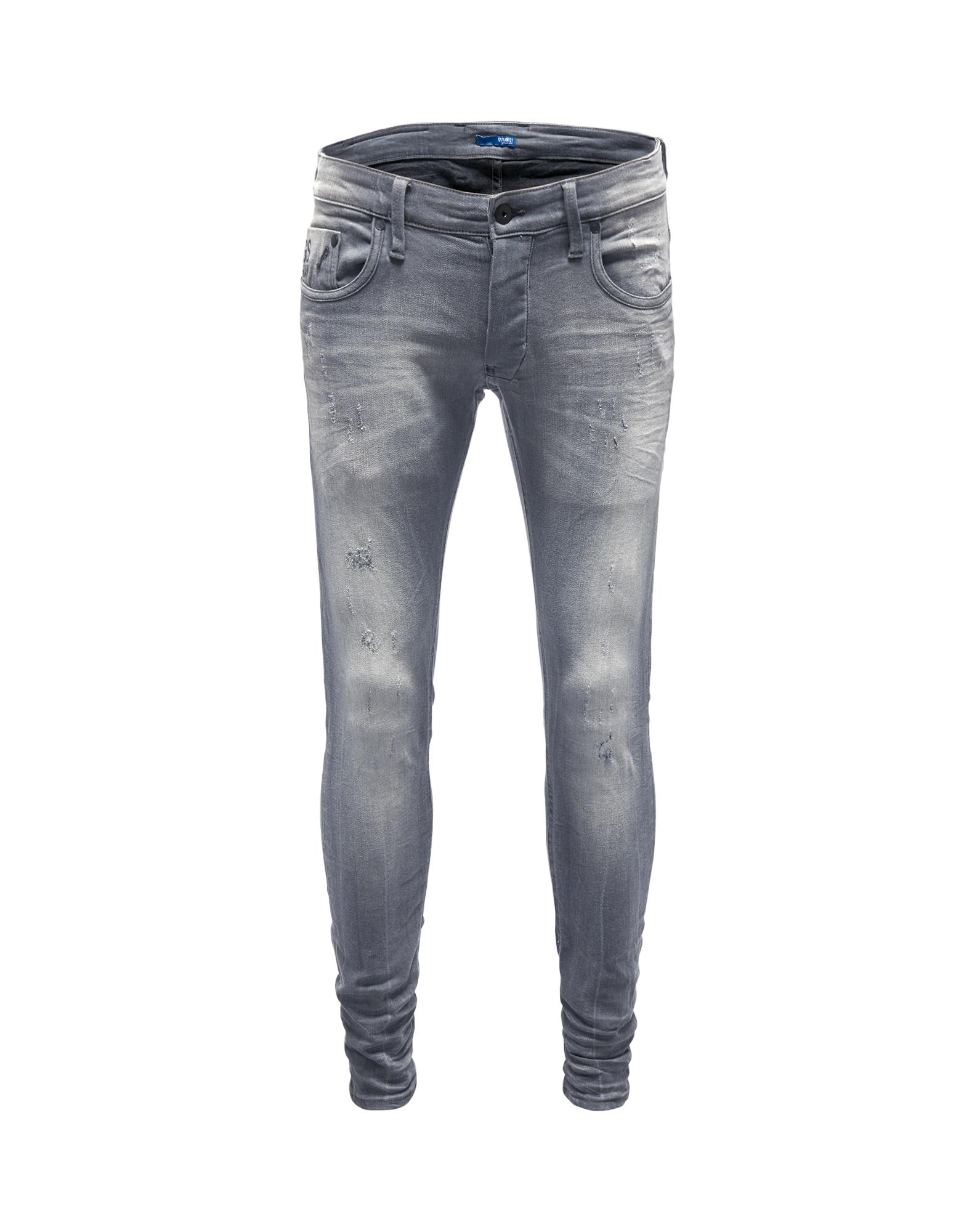 G-STAR RAW Heren Jeans Revend Super Slim grijs