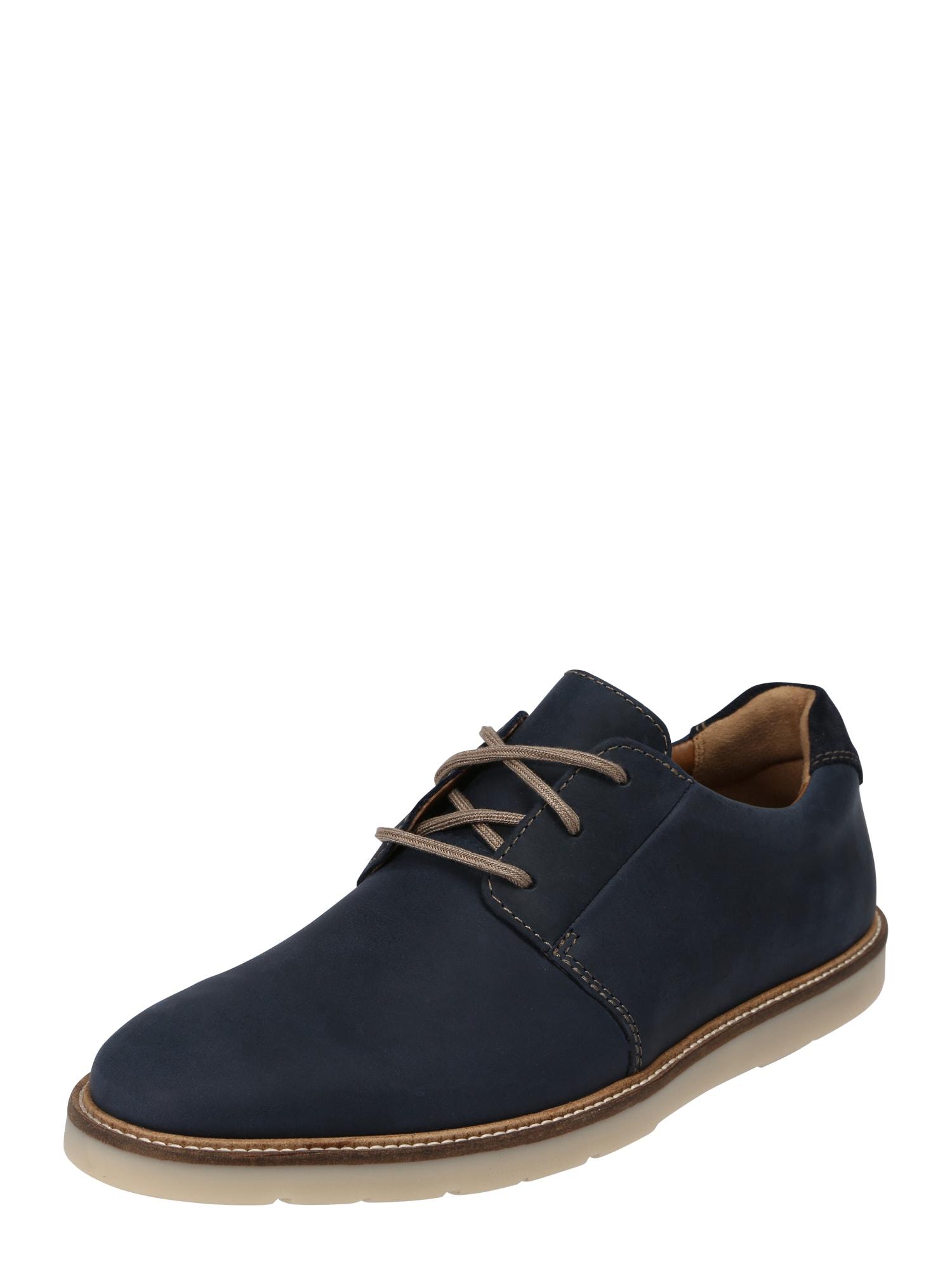Šněrovací boty Grandin Plain námořnická modř CLARKS