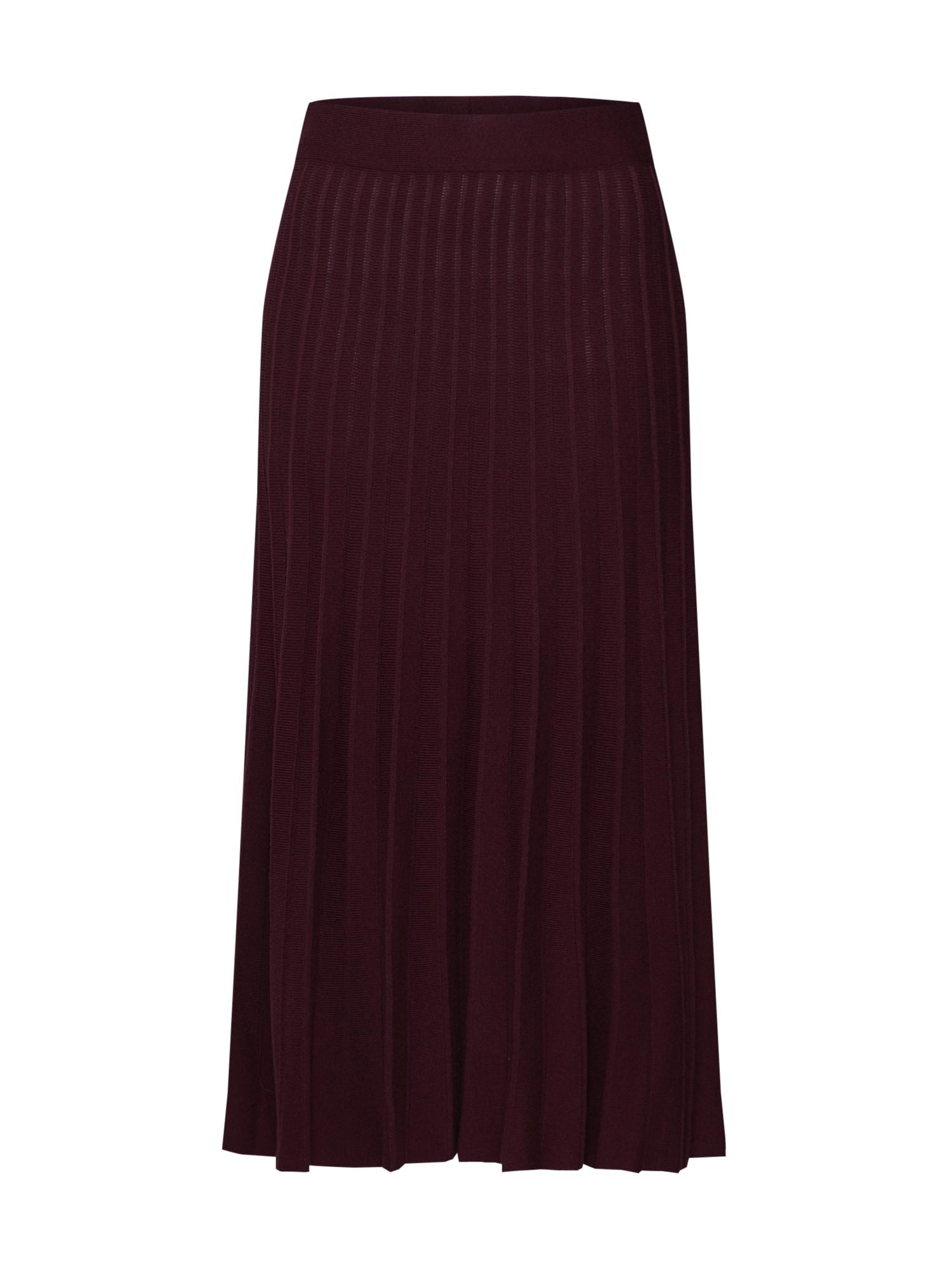 Sukně Pleated Skirt vínově červená Mint&berry