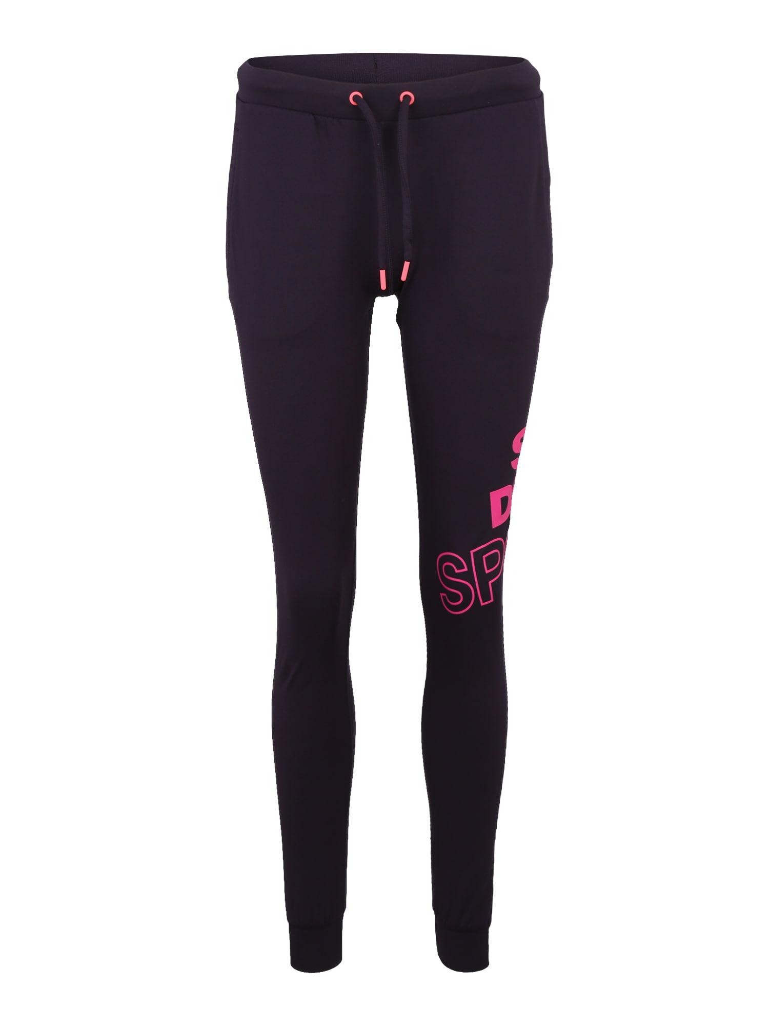 Sportovní kalhoty CORE GRAPHIC pink černá Superdry