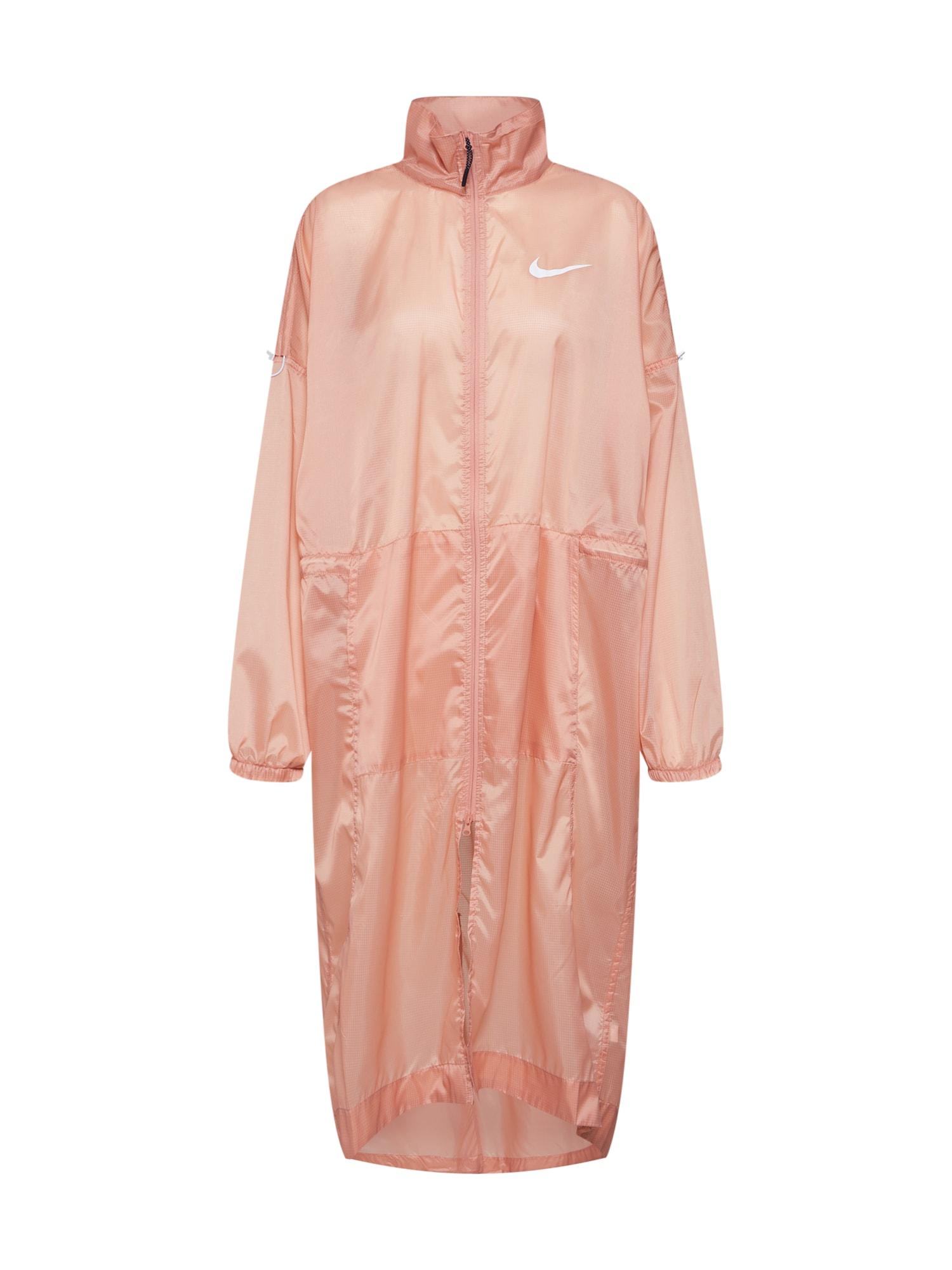 Přechodný kabát růžová Nike Sportswear