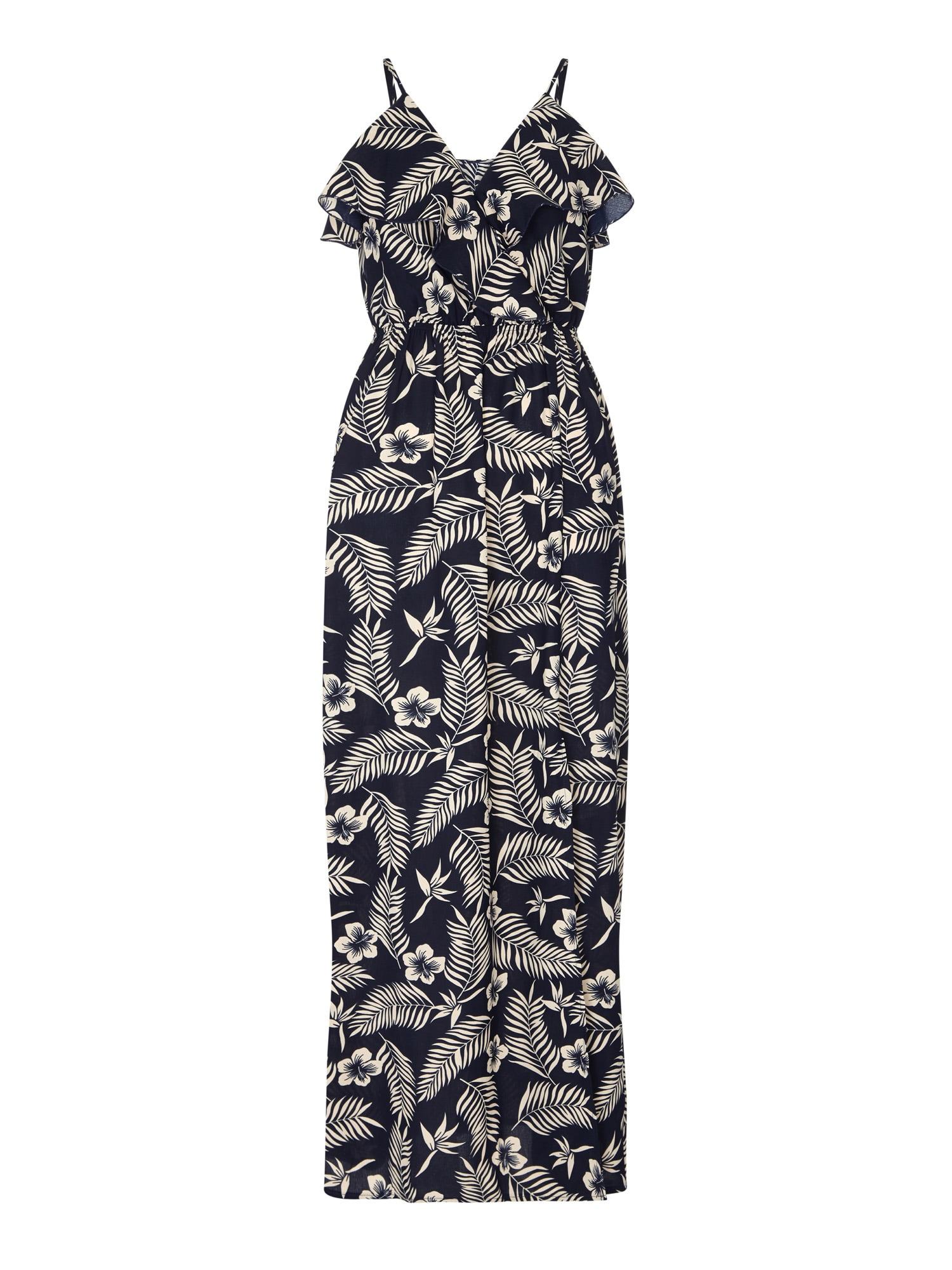 Šaty krémová námořnická modř Mela London