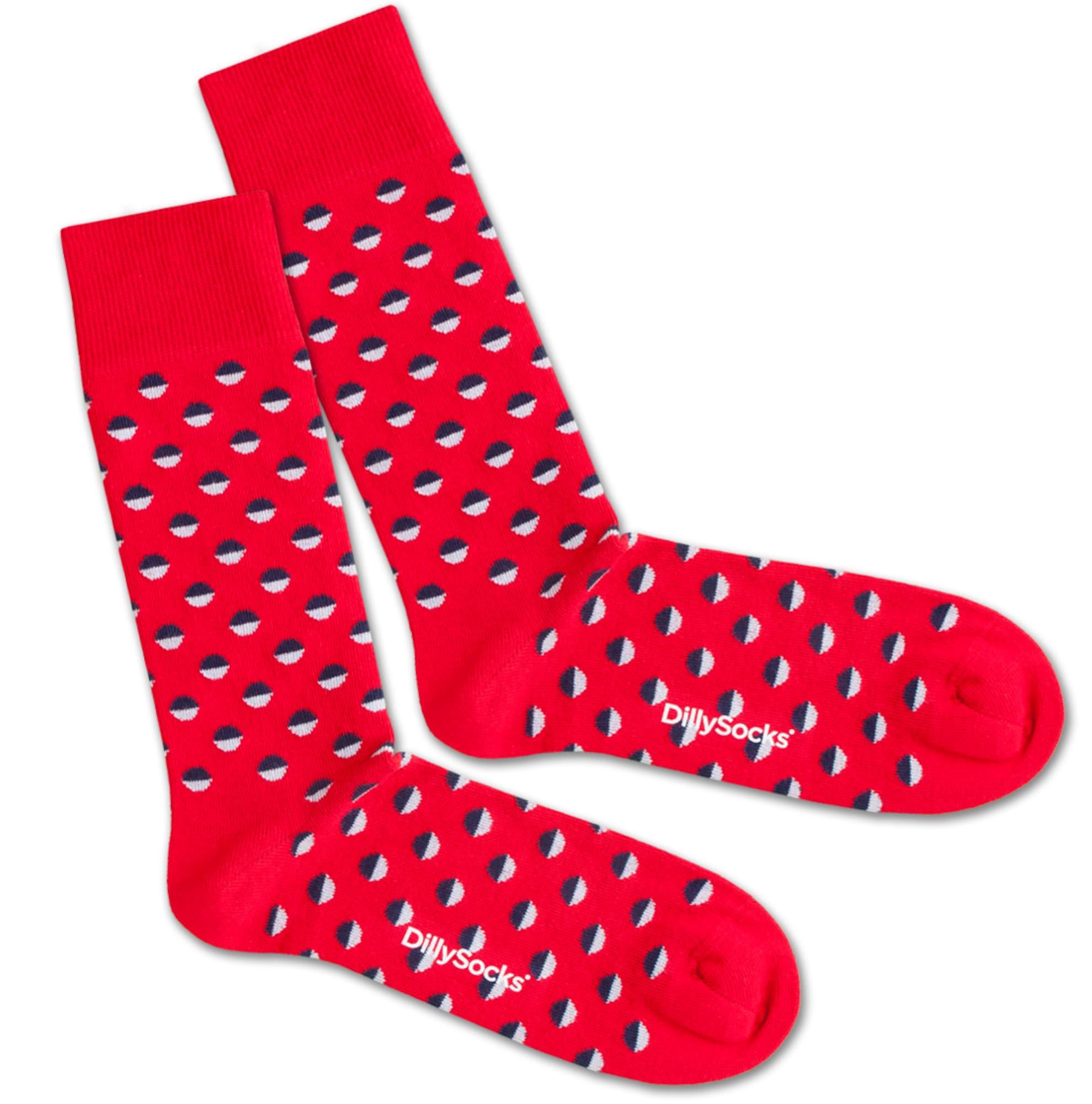 Ponožky Red Boccia Field modrá červená bílá DillySocks