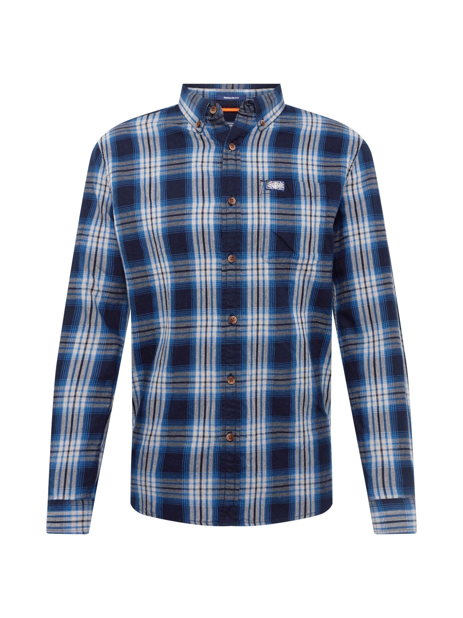 Košile WORKWEAR modrá bílá Superdry