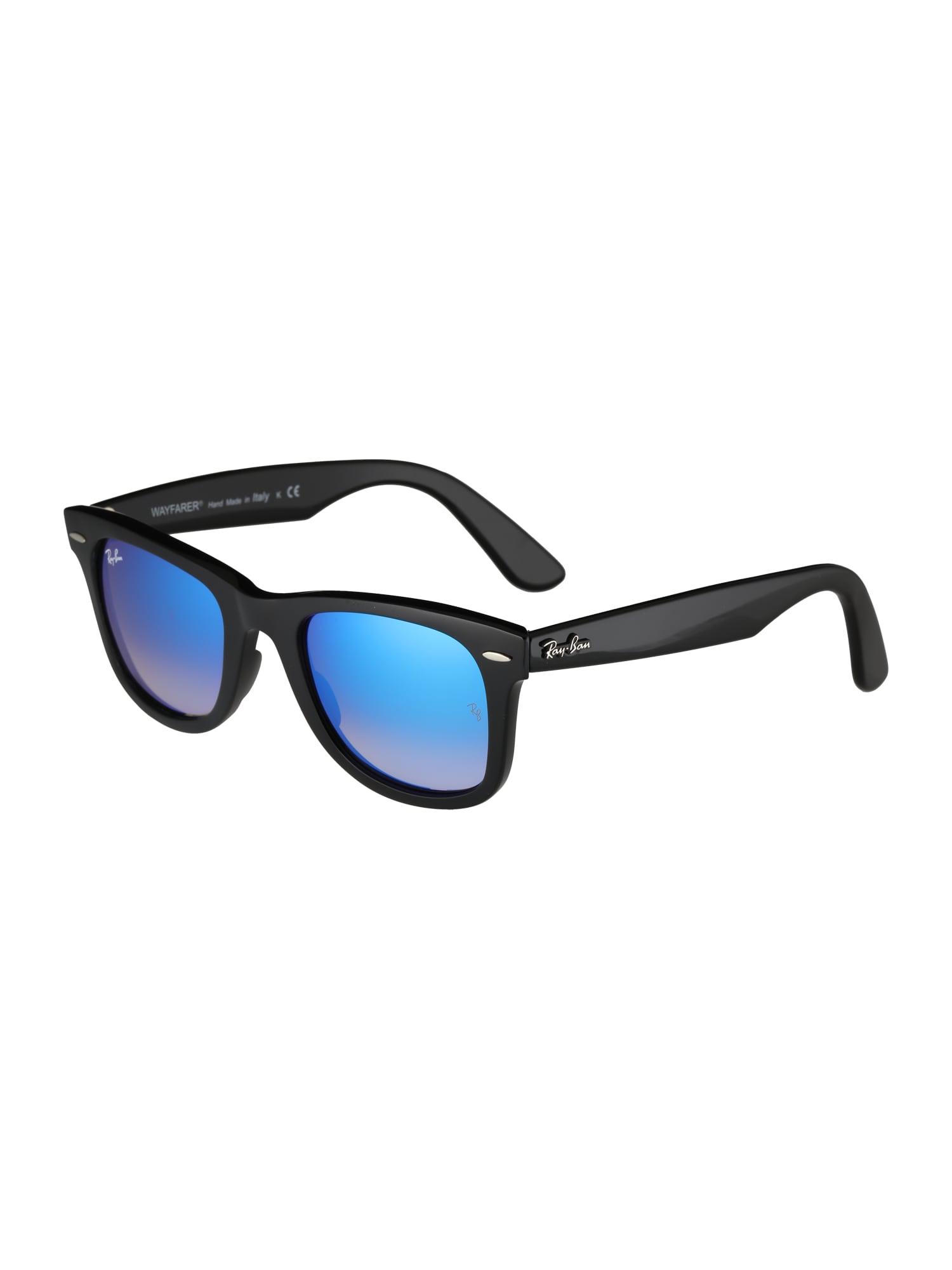 Ray-Ban Sluneční brýle 'Wayfarer'  modrá / černá