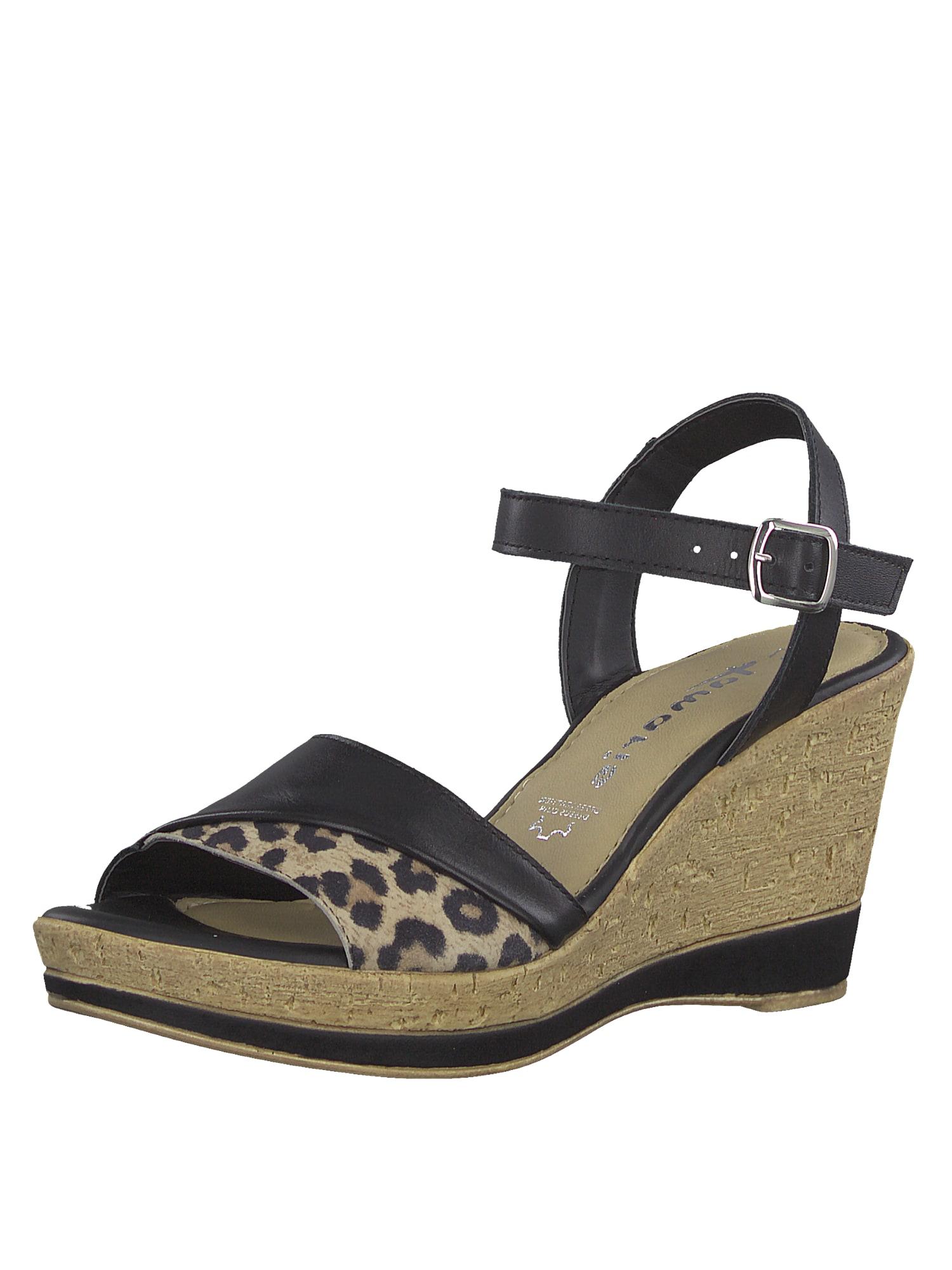 Sandály Wedge Sandle černá TAMARIS