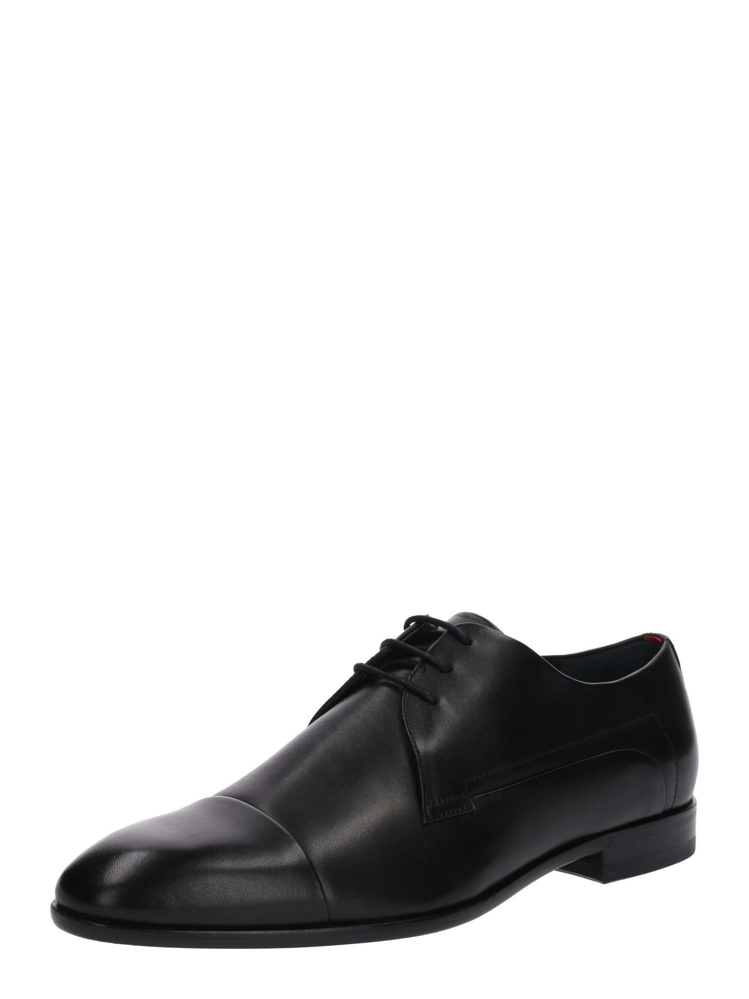 Šněrovací boty černá HUGO