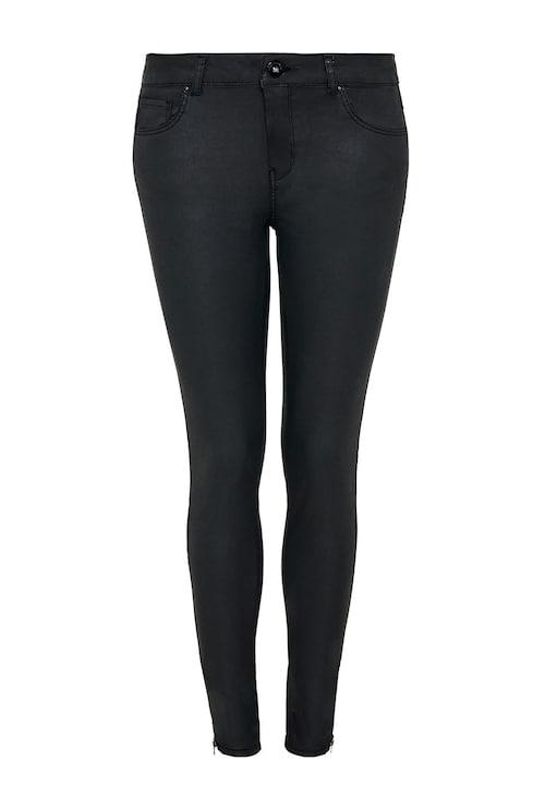 Coated Skinny-Jeans mit Zippern