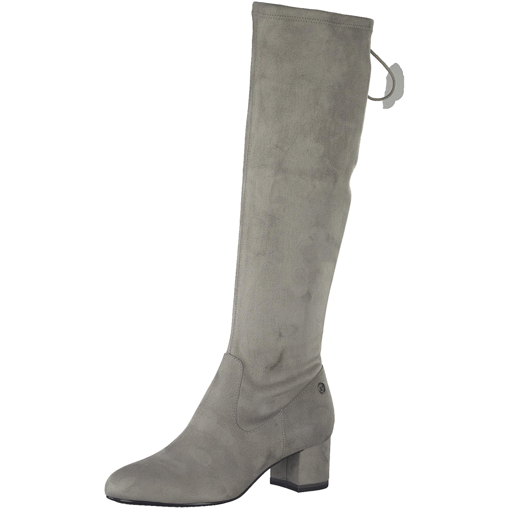TAMARIS, Dames Overknee laarzen, lichtgrijs