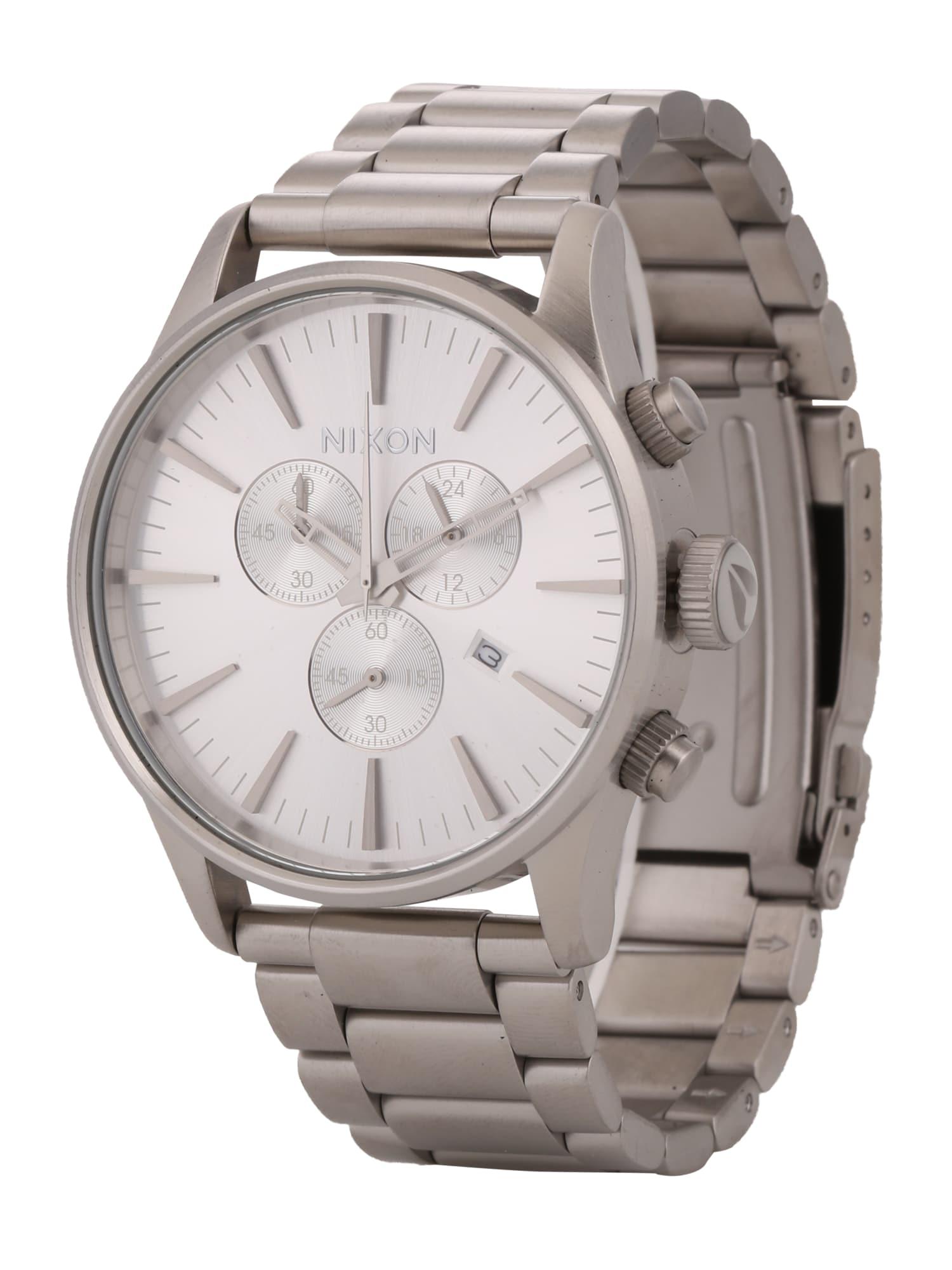 Analogové hodinky Sentry Chrono stříbrná Nixon