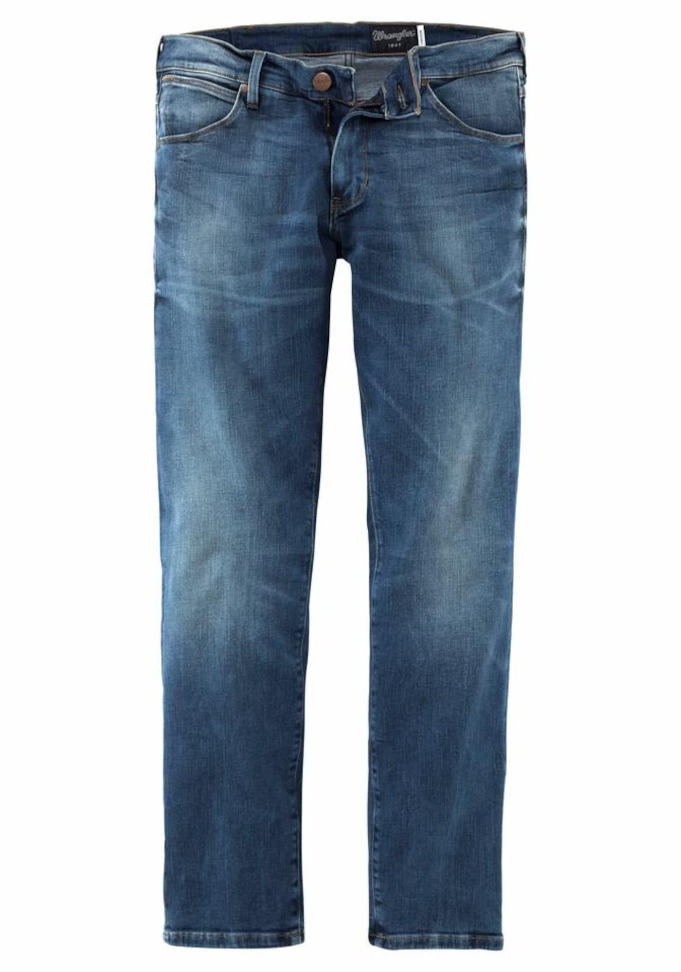 WRANGLER Heren Jeans Larston blauw