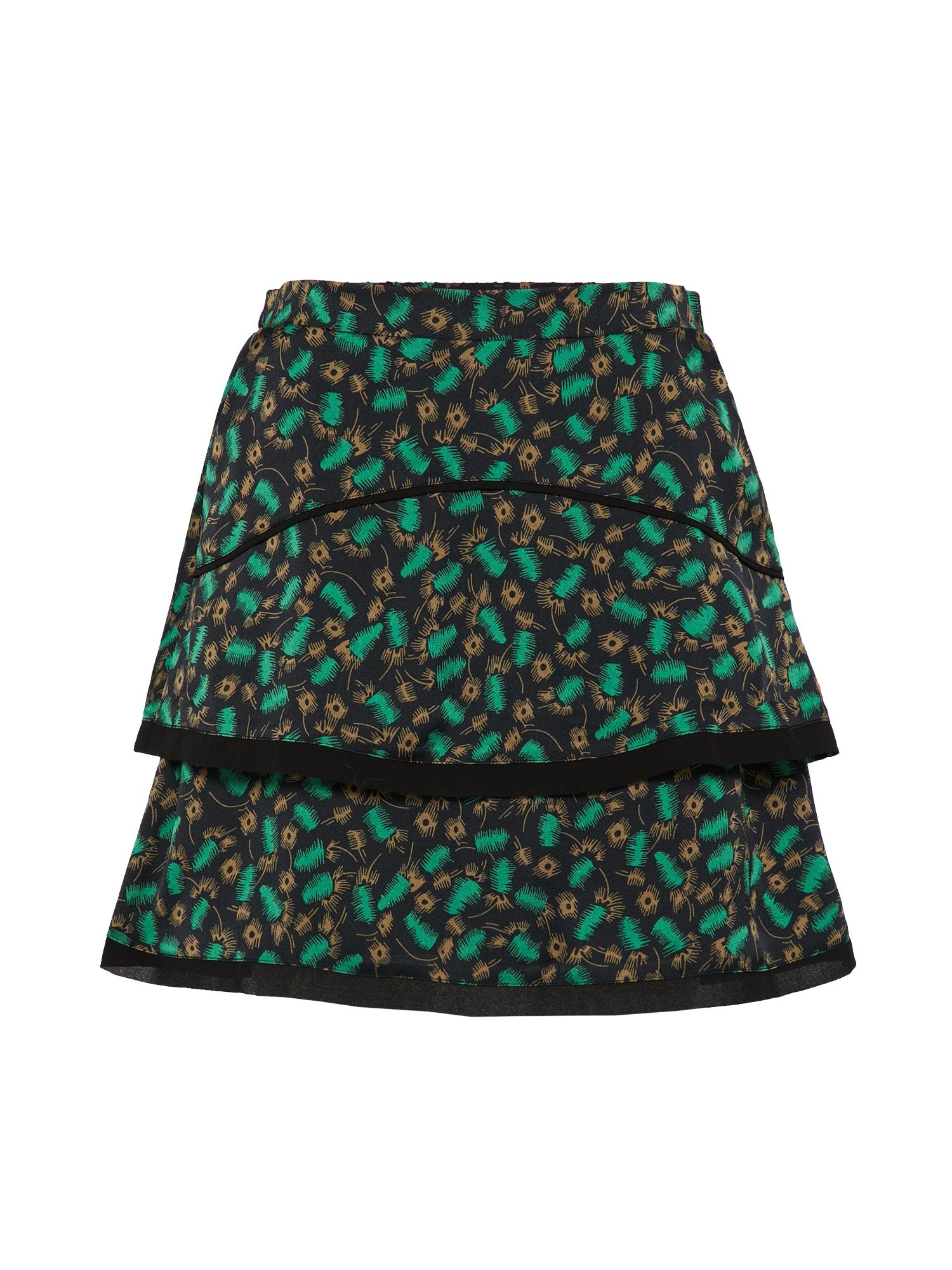 Sukně zelená černá Aaiko