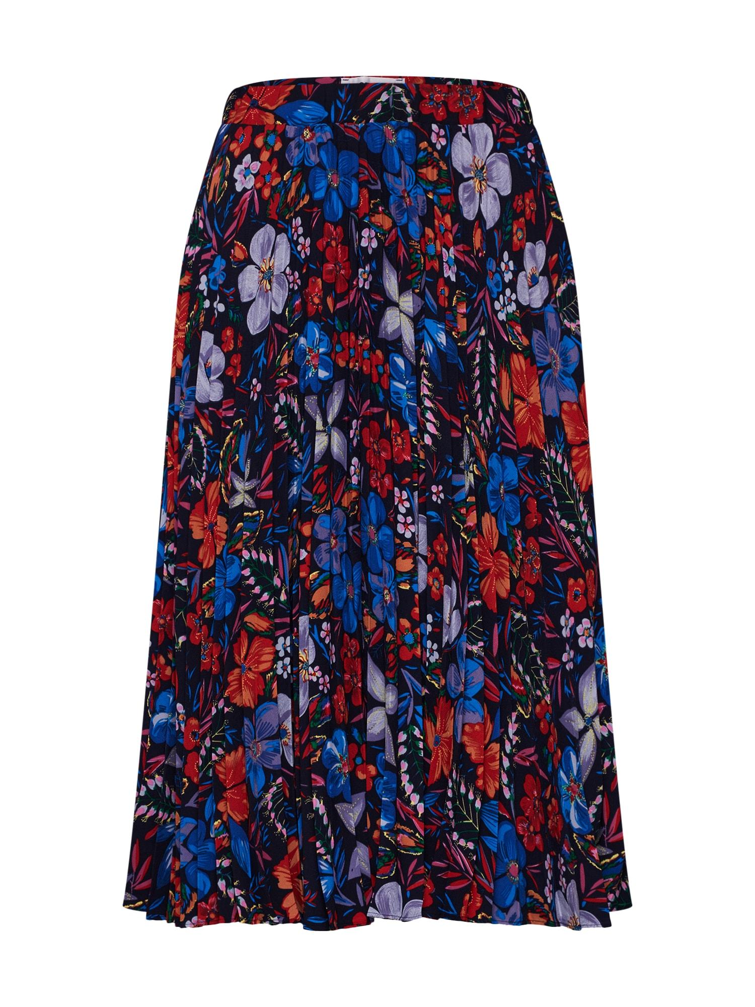 Sukně Saymond pleated skirt mix barev černá Essentiel Antwerp