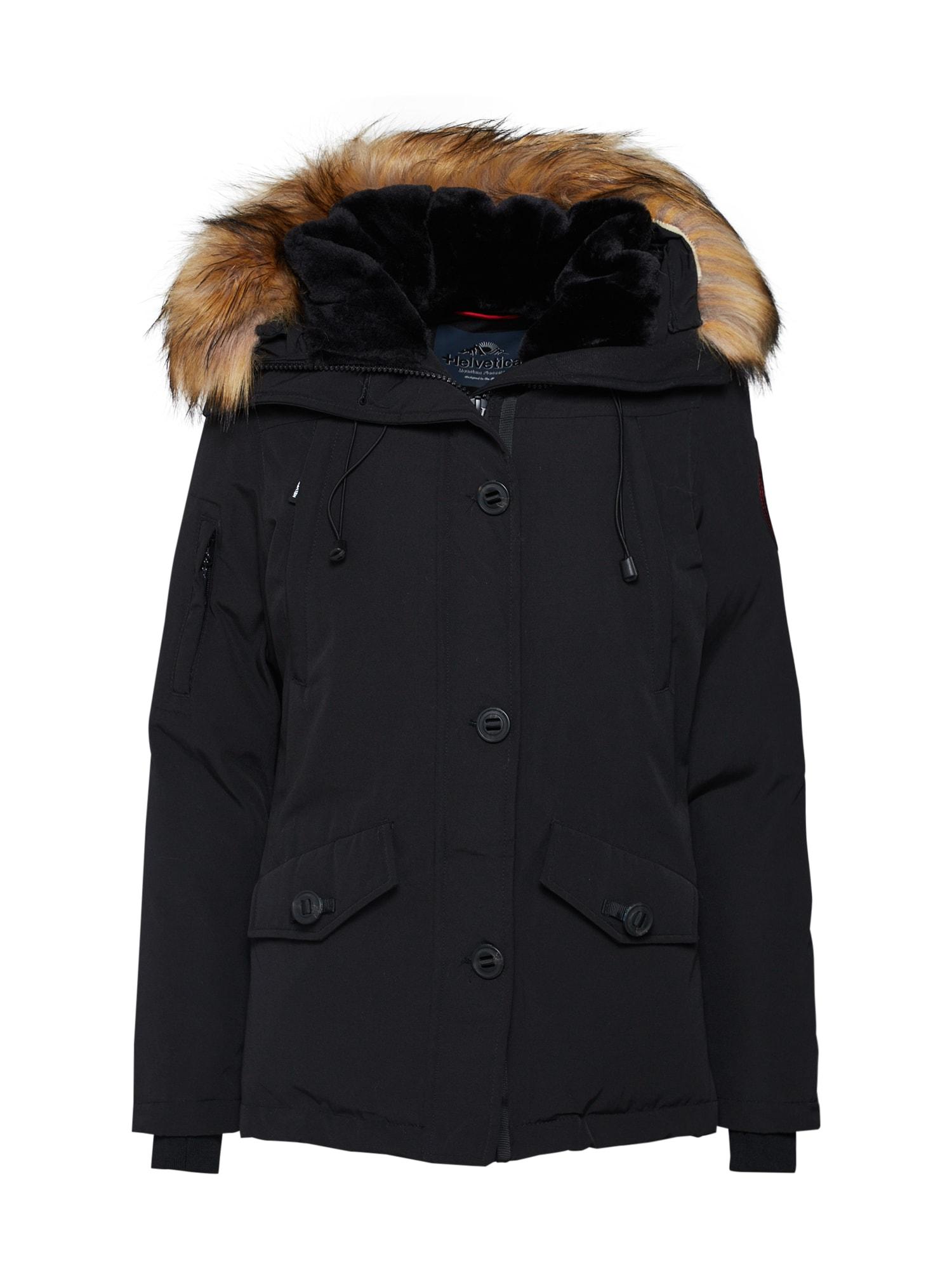Zimní bunda Ontario černá Helvetica Mountain Pioneers