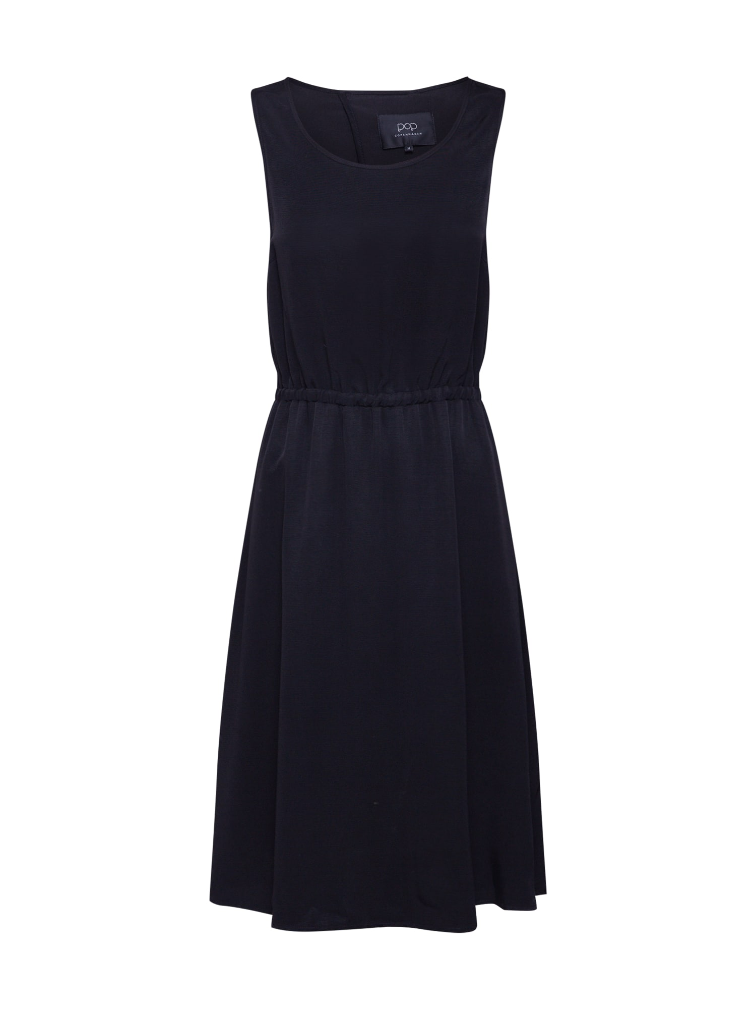 Pop Copenhagen Koktejlové šaty 'Metallic Midi Flare Dress'  černá