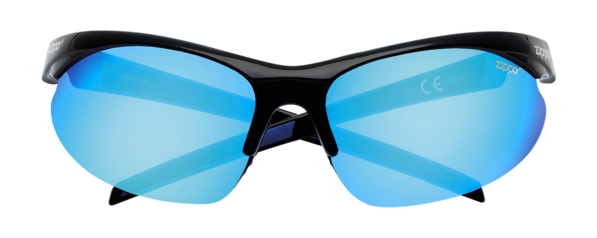 zippo - Sonnenbrille Sport halber Rand 'Black/Blue'