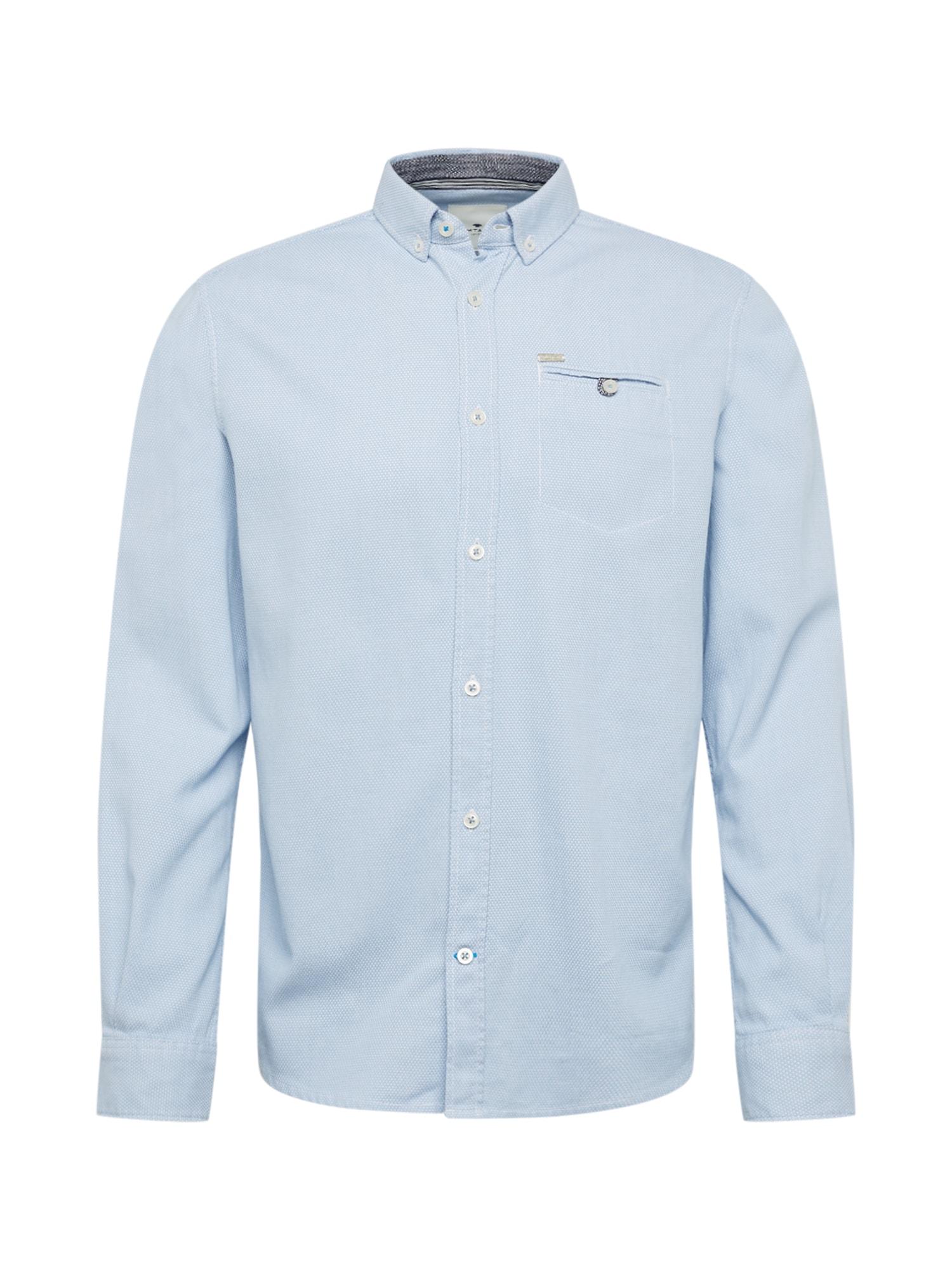 TOM TAILOR Společenská košile 'ray casual dobby shirt'  světlemodrá