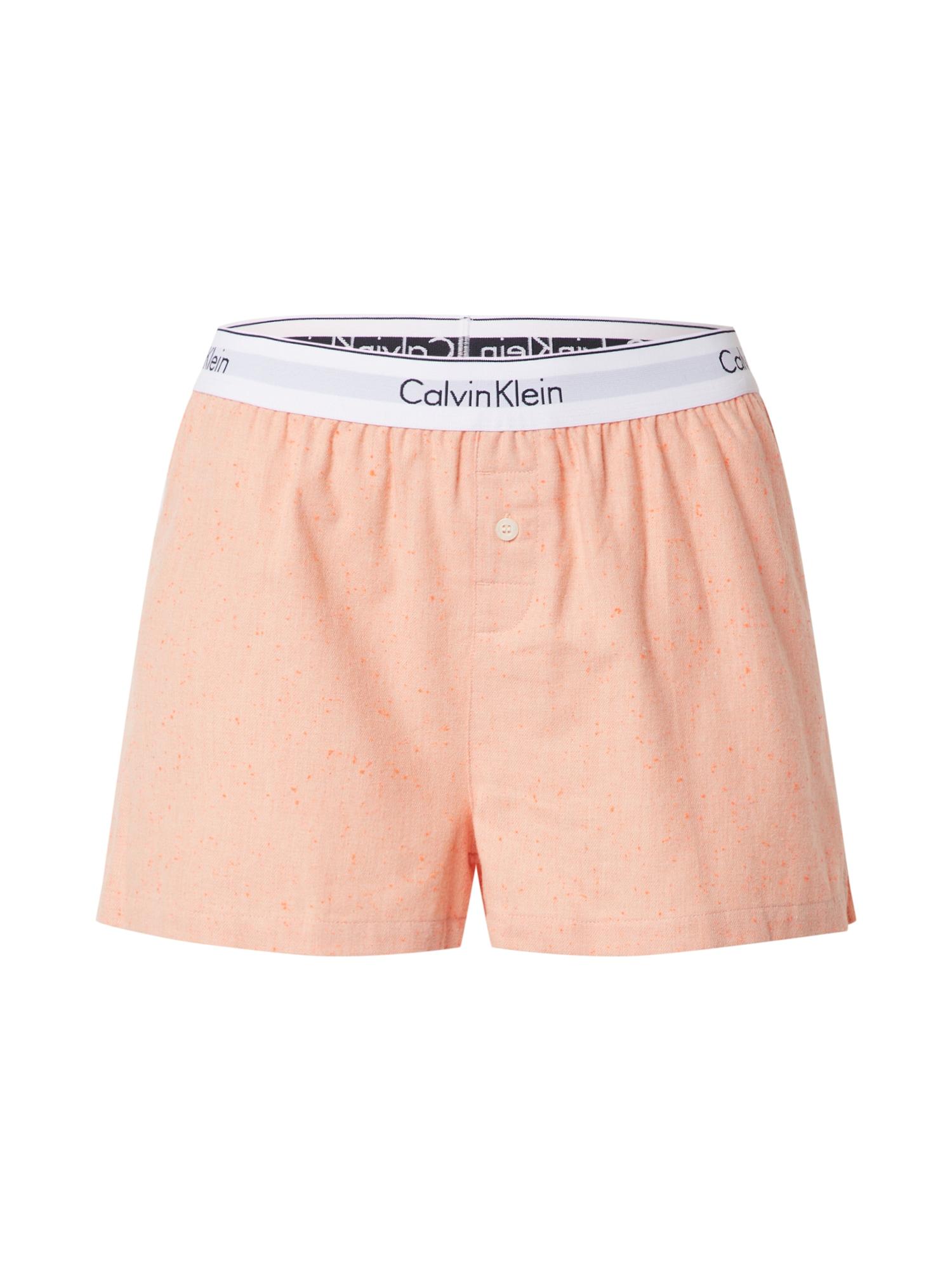 Calvin Klein Underwear Pyžamové kalhoty 'SLEEP SHORT'  oranžová