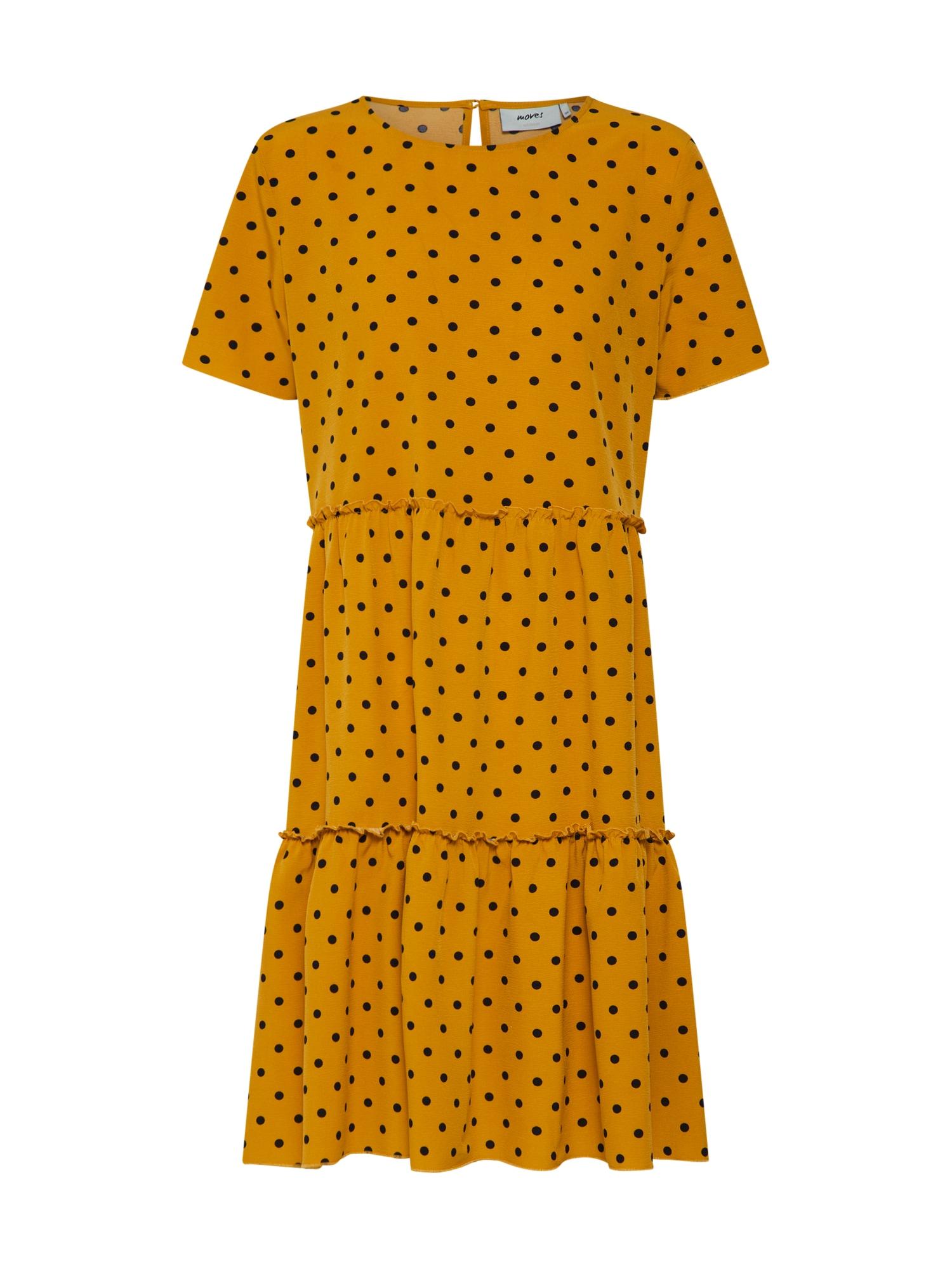 Šaty milani 1353 zlatě žlutá černá Moves