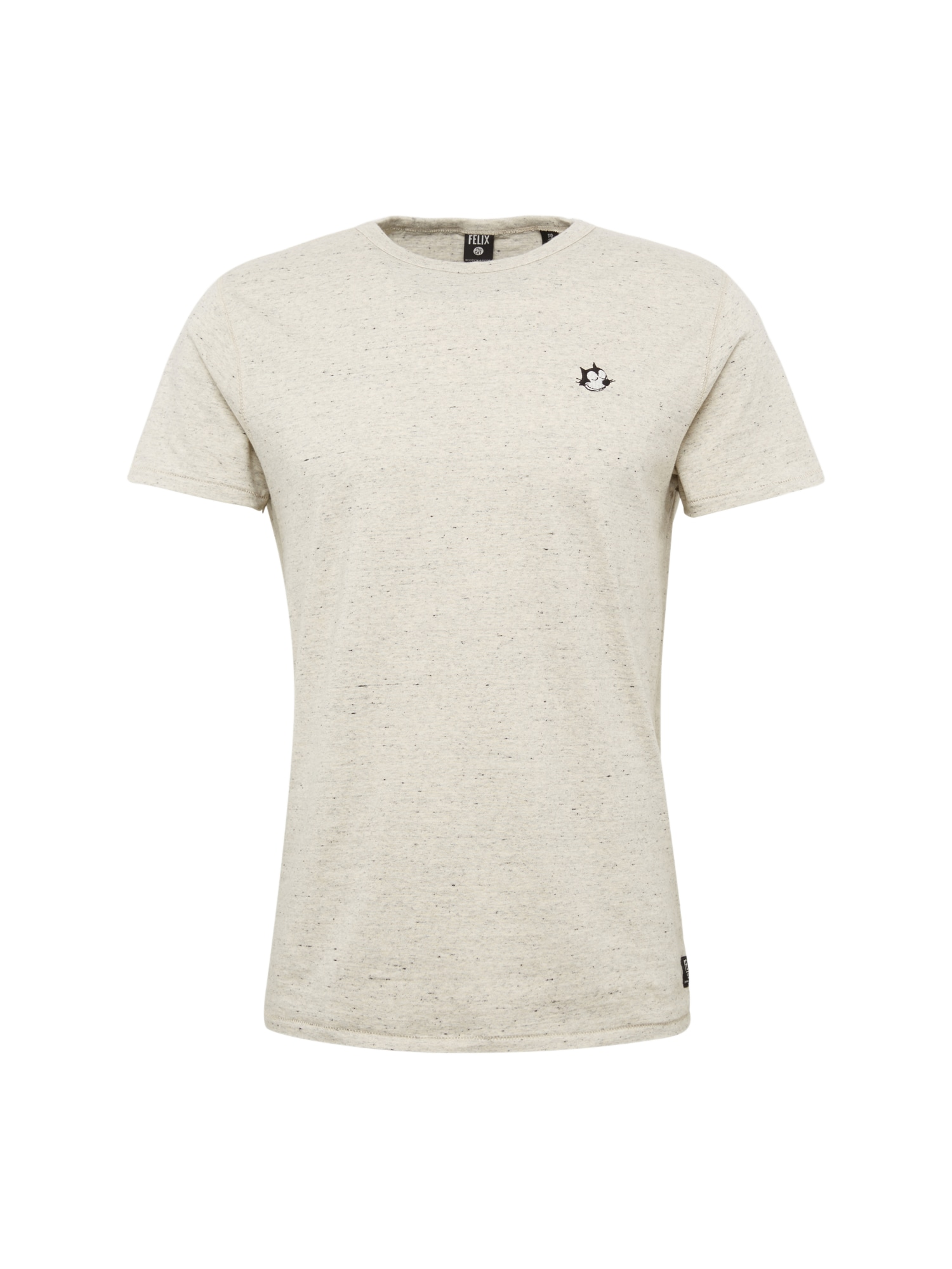 SCOTCH  and  SODA Heren Shirt Felix Ams Blauw colab tee with chest sign off ecru