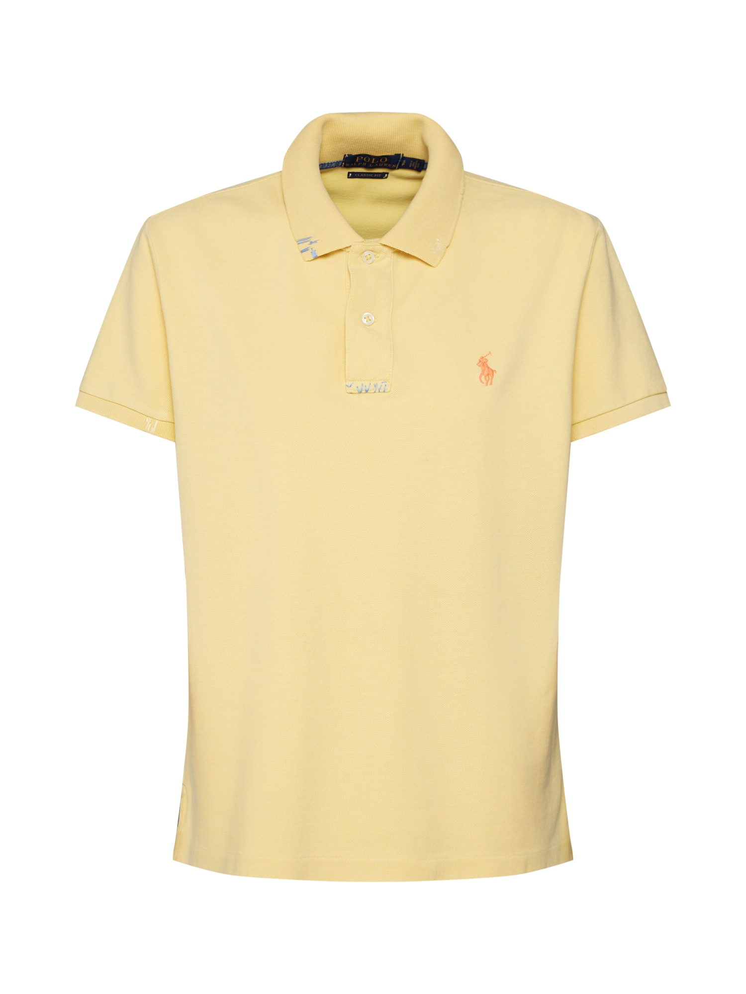 Tričko FIT RM-CLASSIC-SHORT SLEEVE-KNIT žlutá POLO RALPH LAUREN