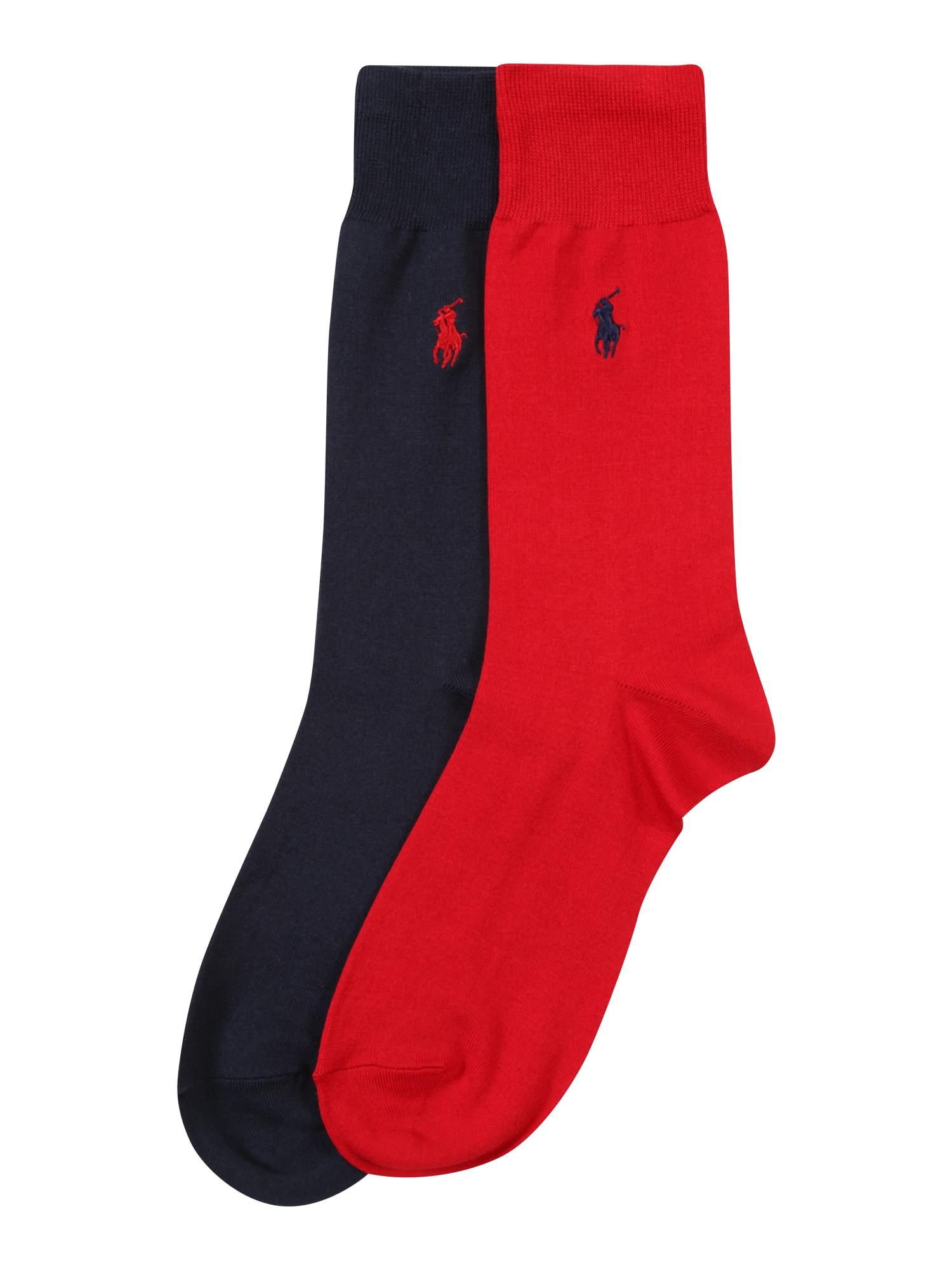 Ponožky modrá červená POLO RALPH LAUREN