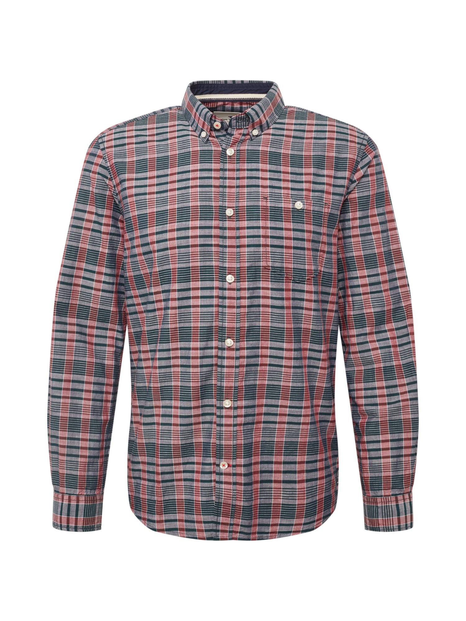 Košile ray slub check sh námořnická modř červená TOM TAILOR