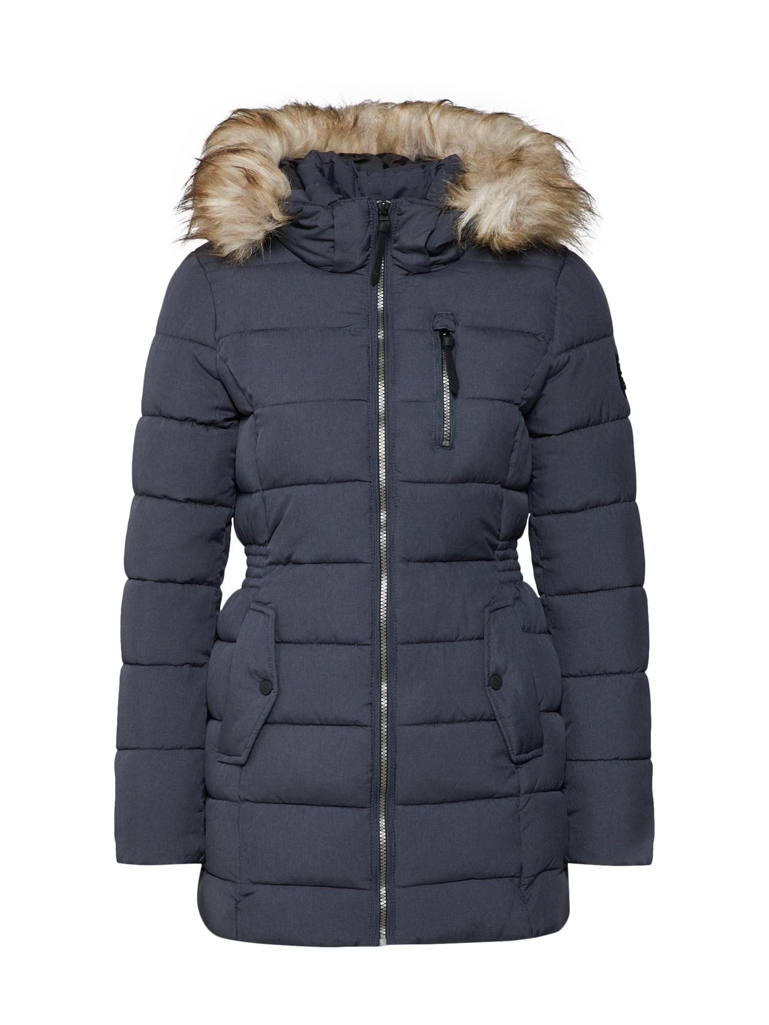 Zimní kabát onlNORTH světle béžová tmavě béžová námořnická modř hnědá ONLY