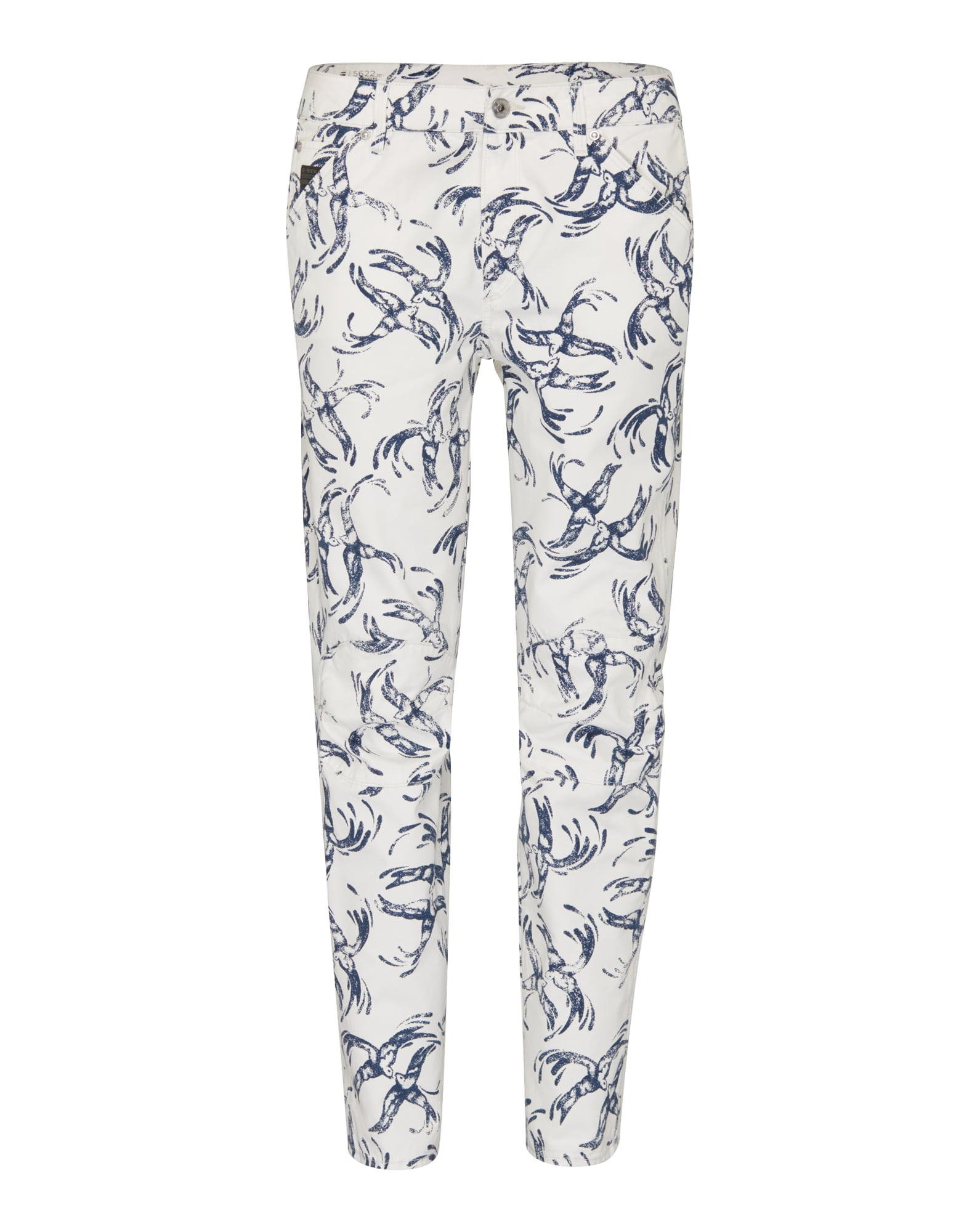 G-STAR RAW Dames Jeans 5622 Elwood Uncovered saffier wit