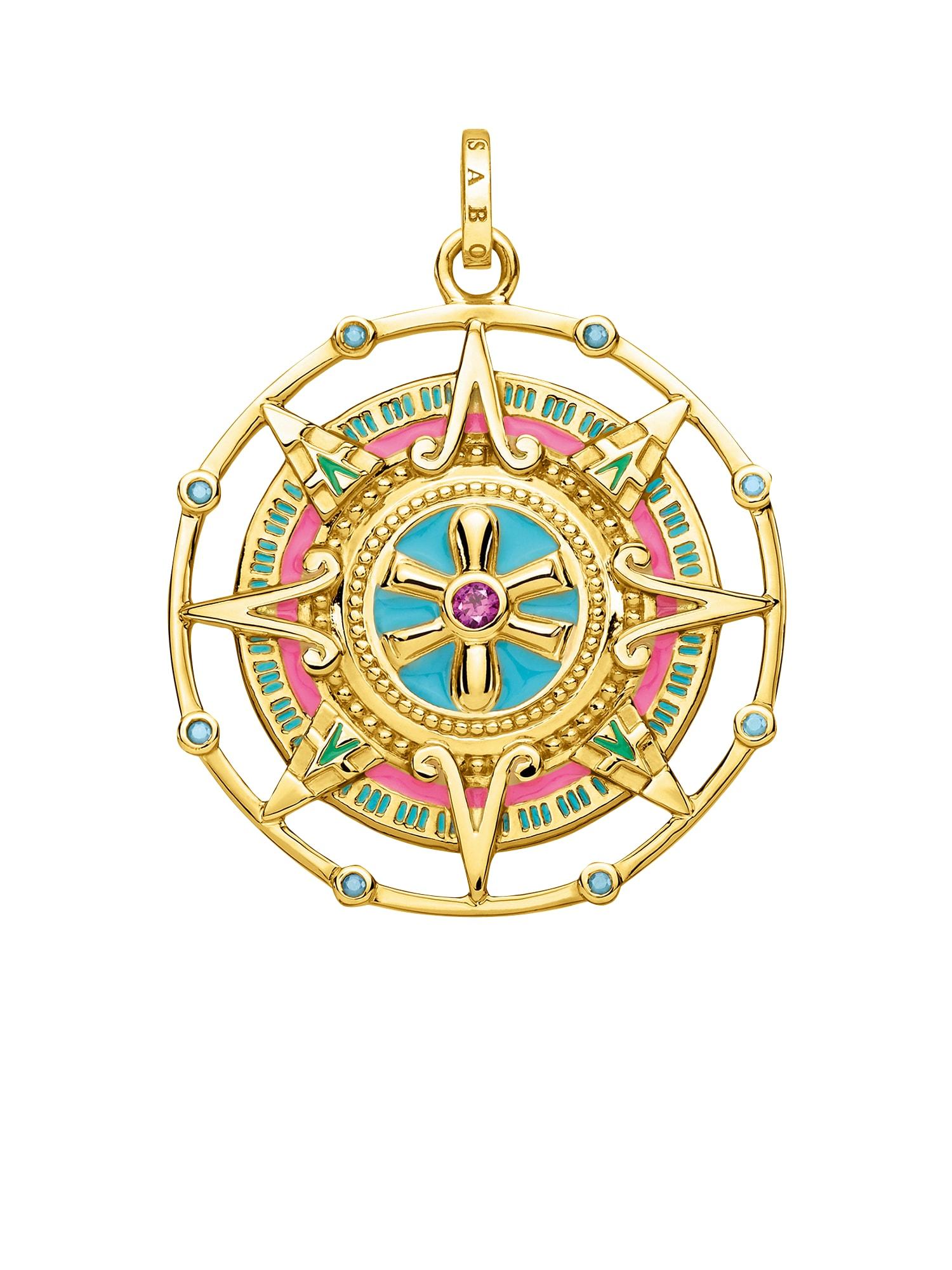 Přívěsek Amulett tyrkysová zlatá pink Thomas Sabo