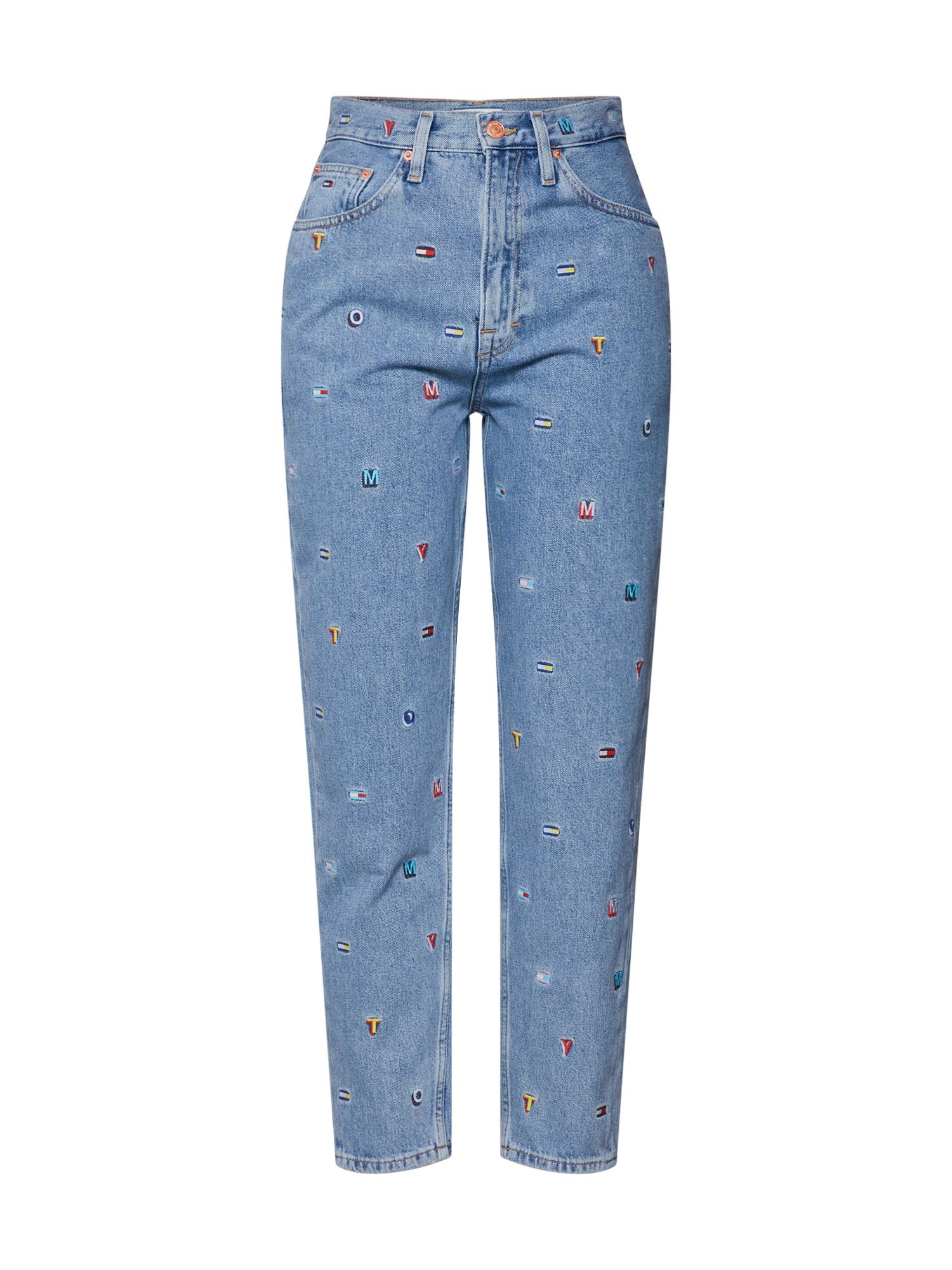Džíny HIGH RISE TAPERED TJ 2004 GRTLB modrá džínovina Tommy Jeans
