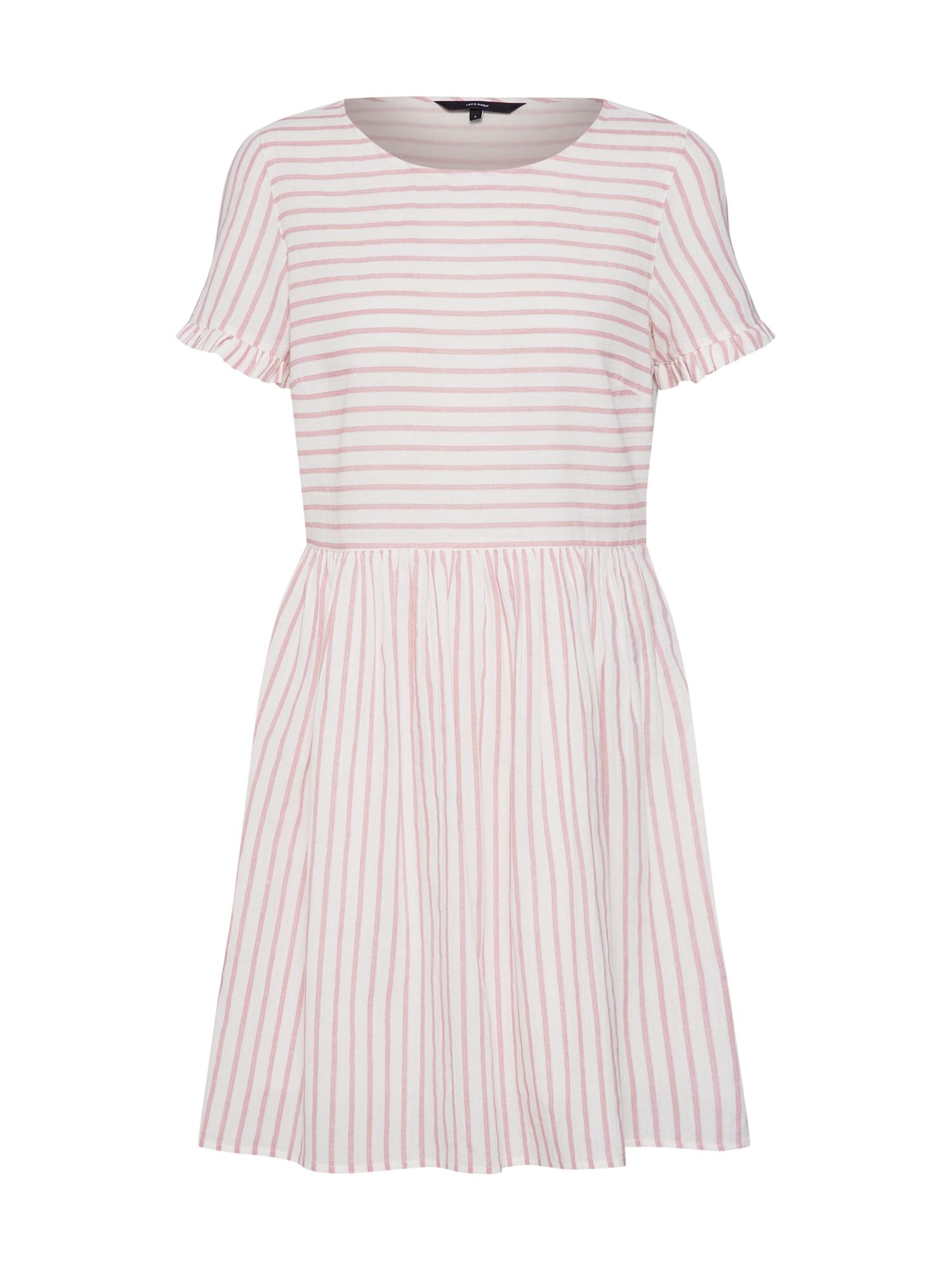 Letní šaty VMCOCO STRIPY SS SHORT DRESS růžová bílá VERO MODA