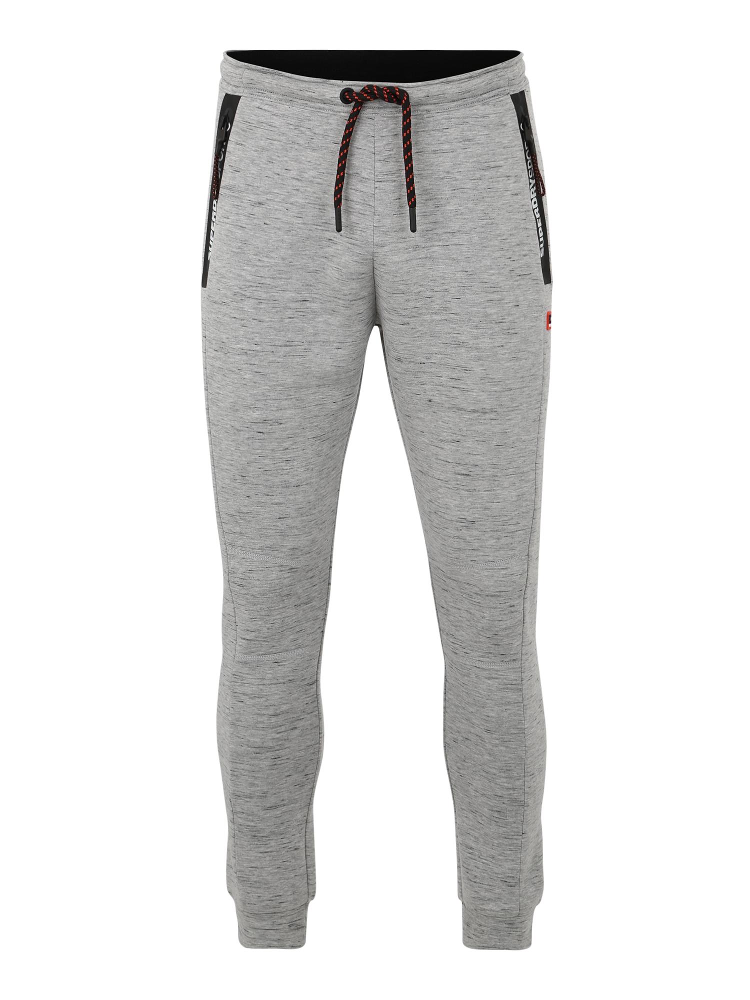 Sportovní kalhoty Gym Tech Stretch Slim světle šedá Superdry