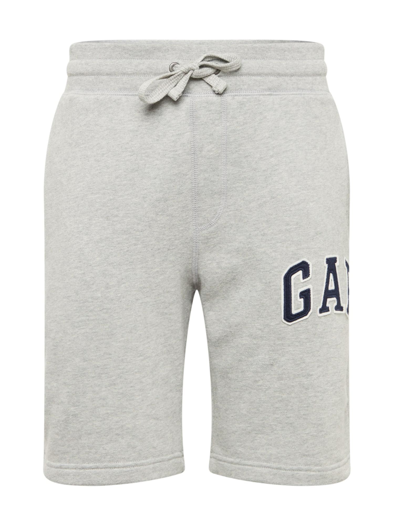 Kalhoty tmavě modrá šedý melír GAP