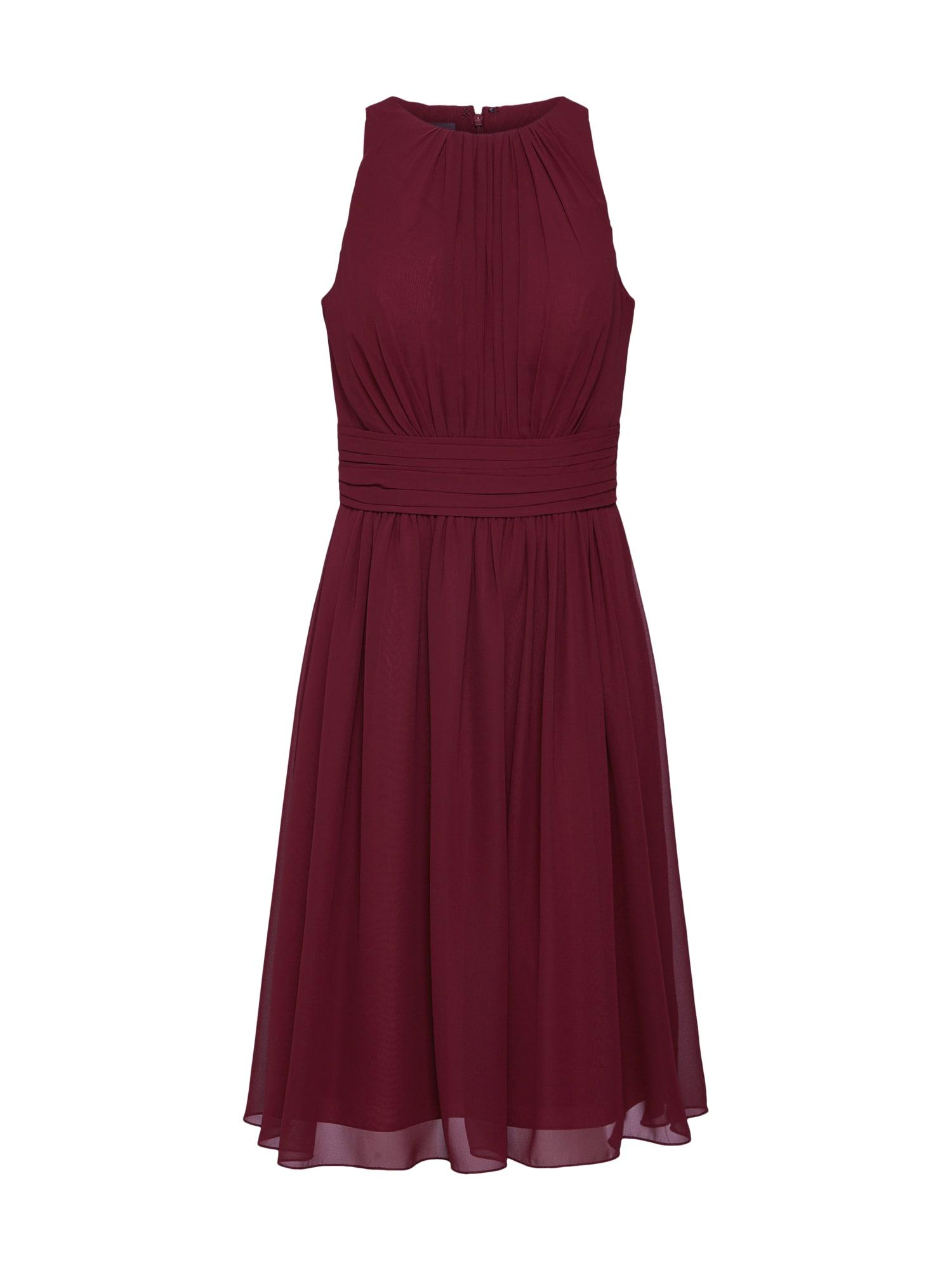 Koktejlové šaty short dress chiffon burgundská červeň STAR NIGHT