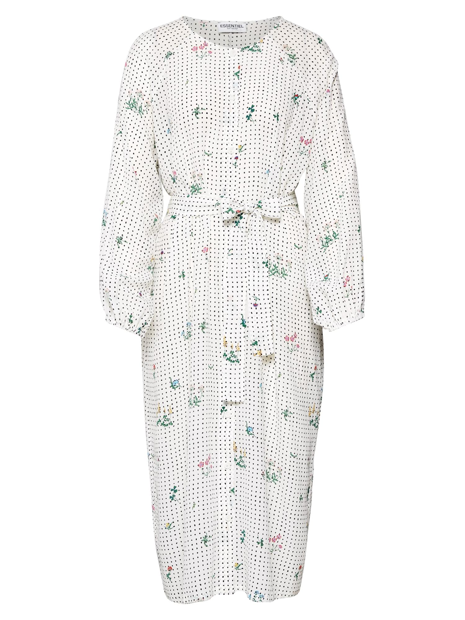 Košilové šaty Tataclean mix barev bílá Essentiel Antwerp