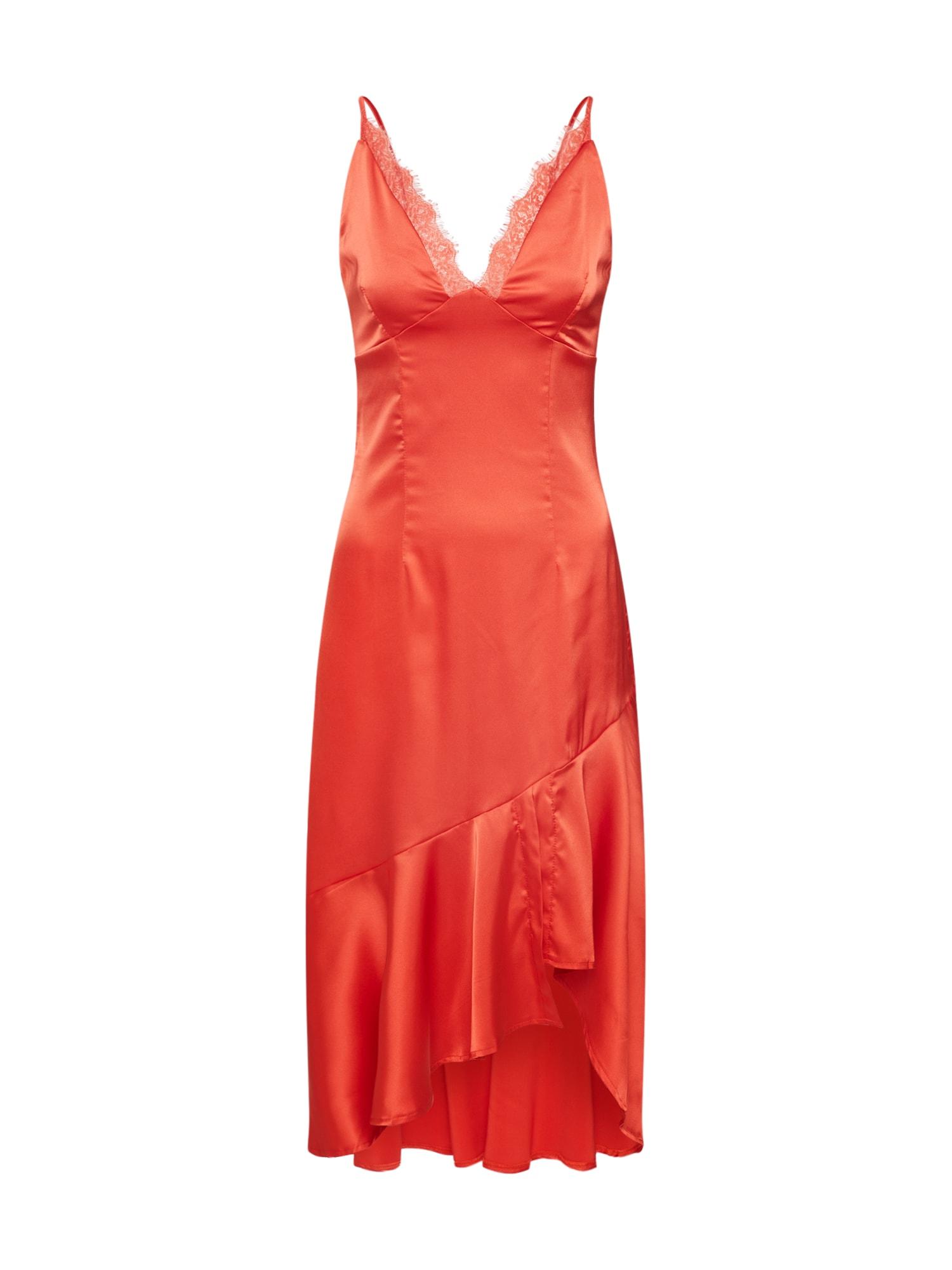 Missguided Koktejlové šaty  pink / červená