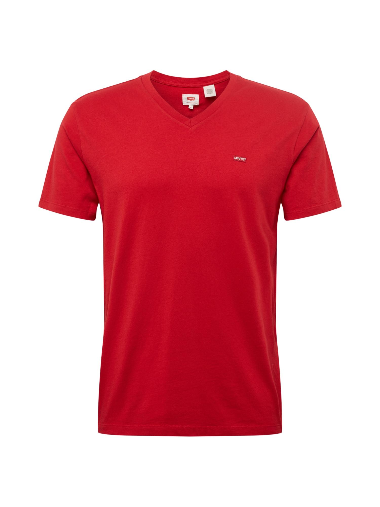 LEVIS Tričko ORIGHMVNECK červená LEVI'S