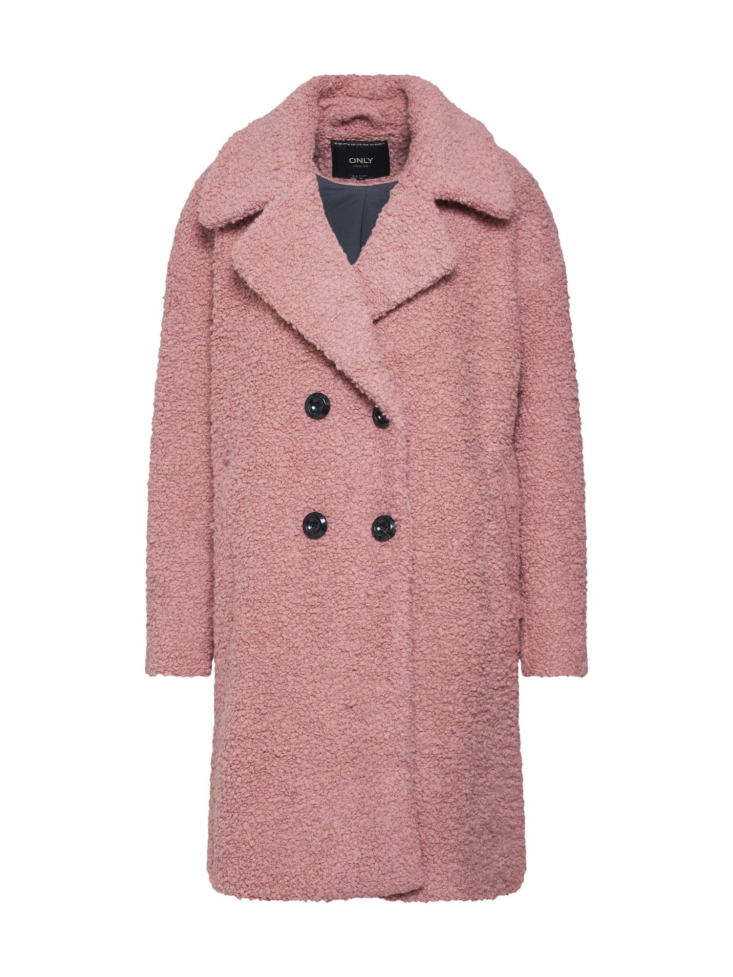 Zimní kabát růže černá ONLY