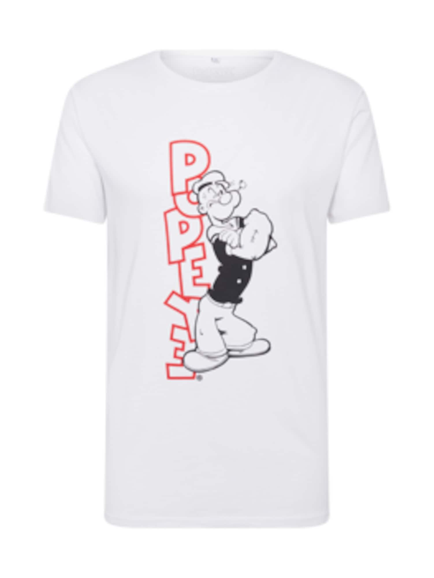 Tričko Popeye Standing červená černá bílá Mister Tee