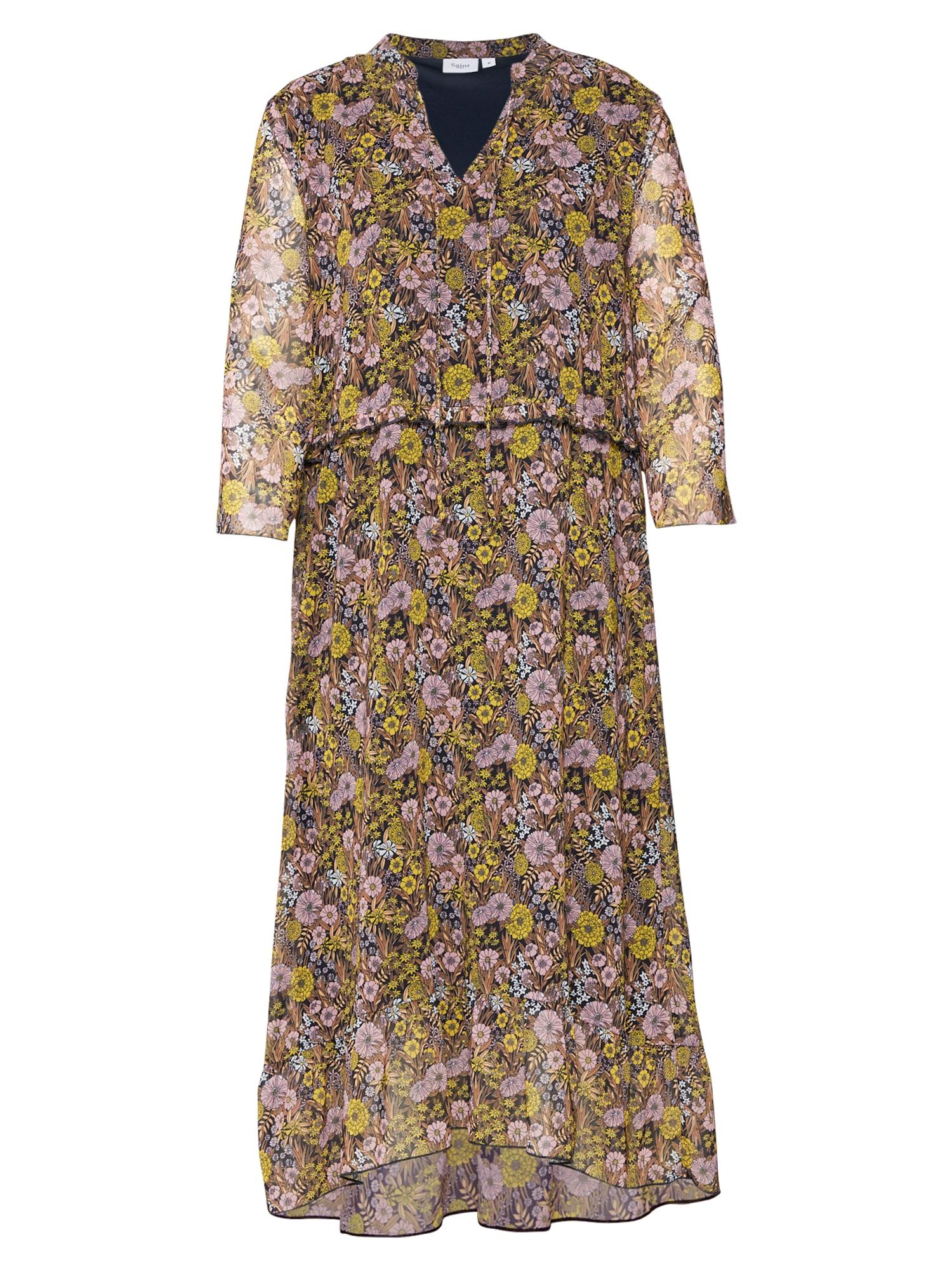 Šaty hnědá mix barev SAINT TROPEZ