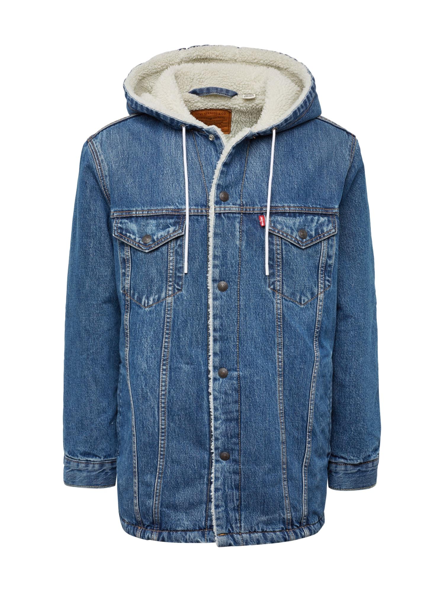 LEVIS Zimní bunda modrá džínovina LEVI'S