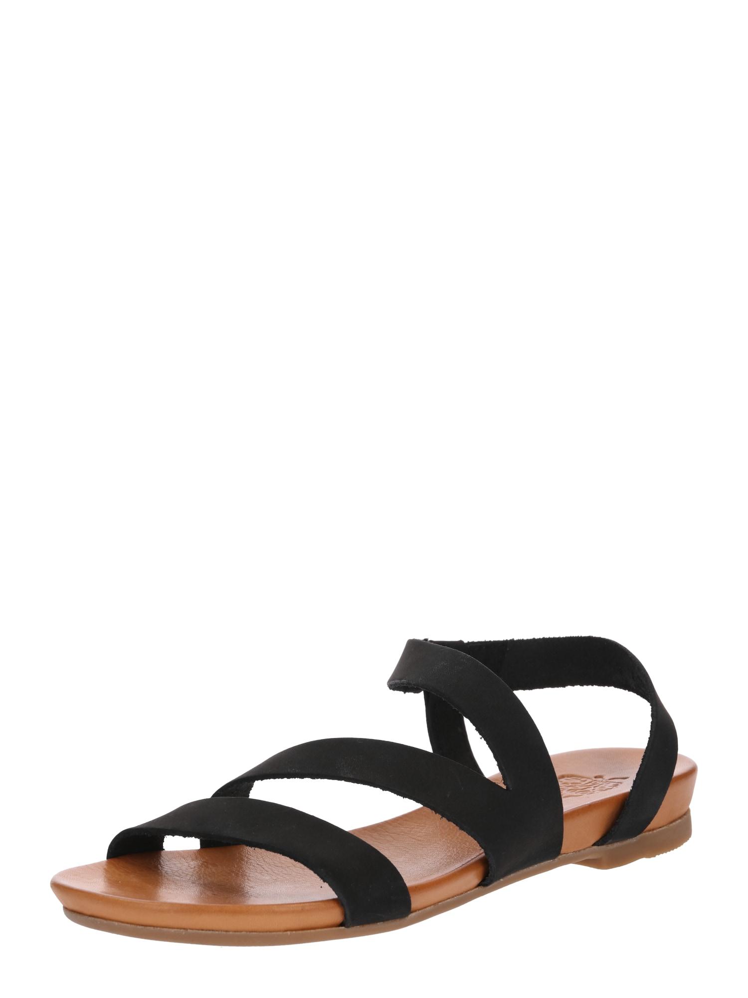 Páskové sandály Dena béžová černá Apple Of Eden