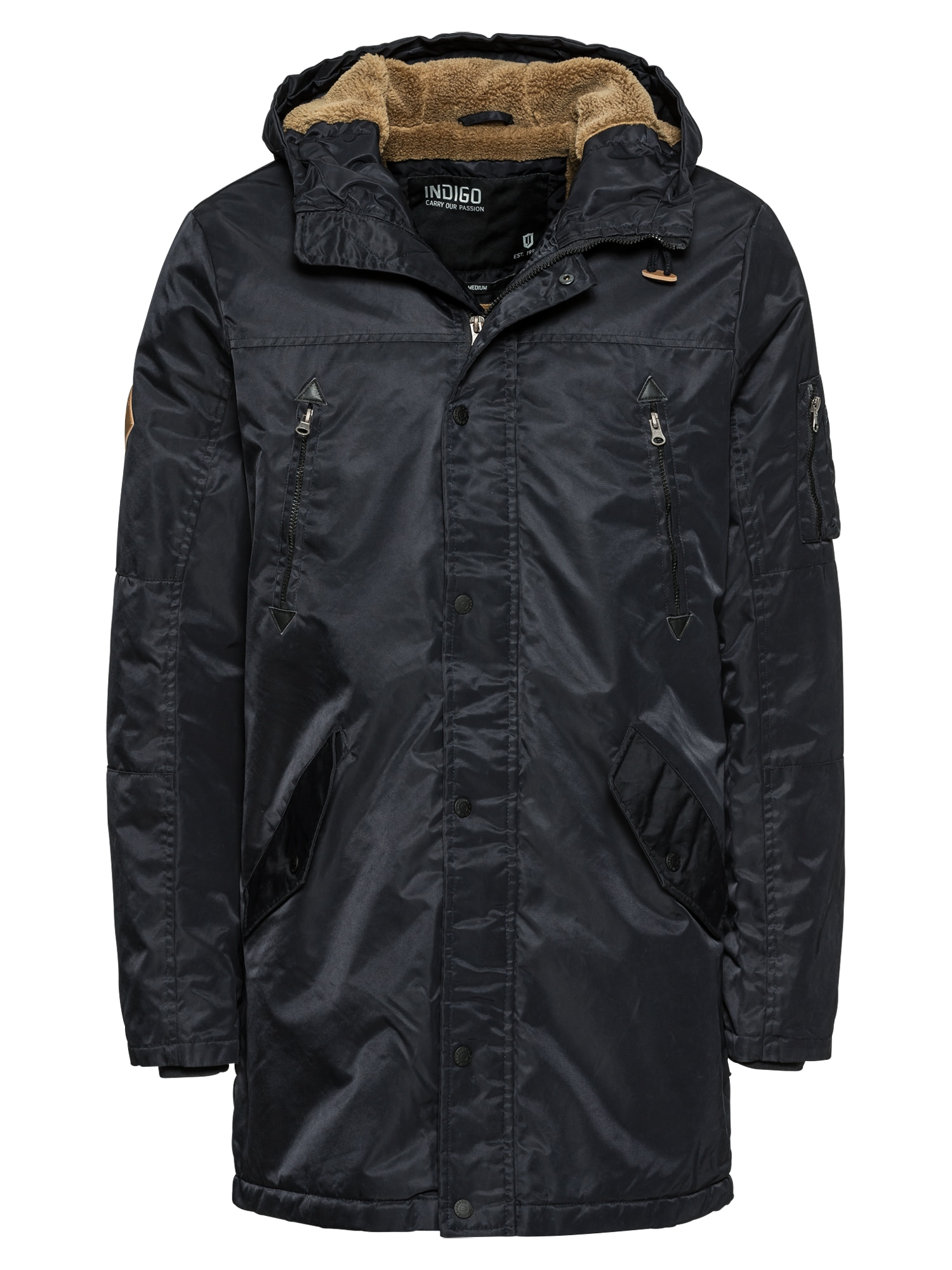 Zimní bunda Woodman tmavě modrá INDICODE JEANS