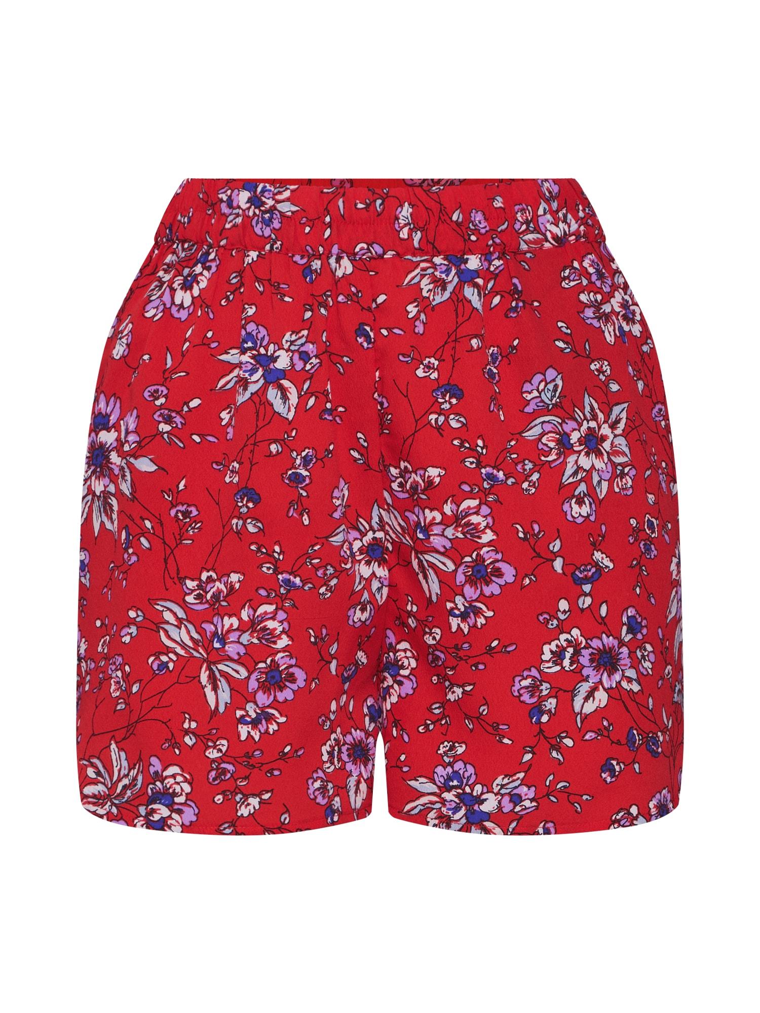 Kalhoty BINEA červená oranžově červená PIECES