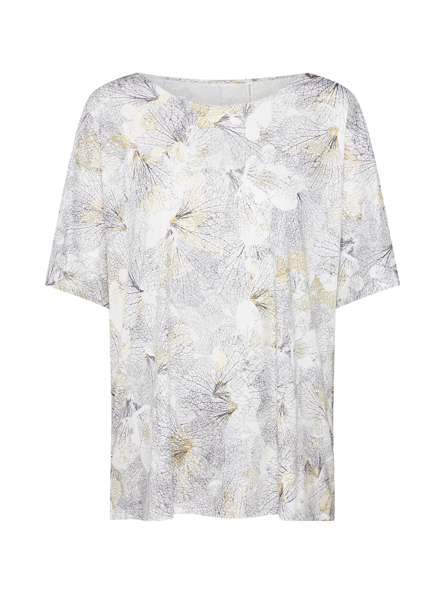 Oversized tričko Favourites Trend 3 antracitová bílá CALIDA