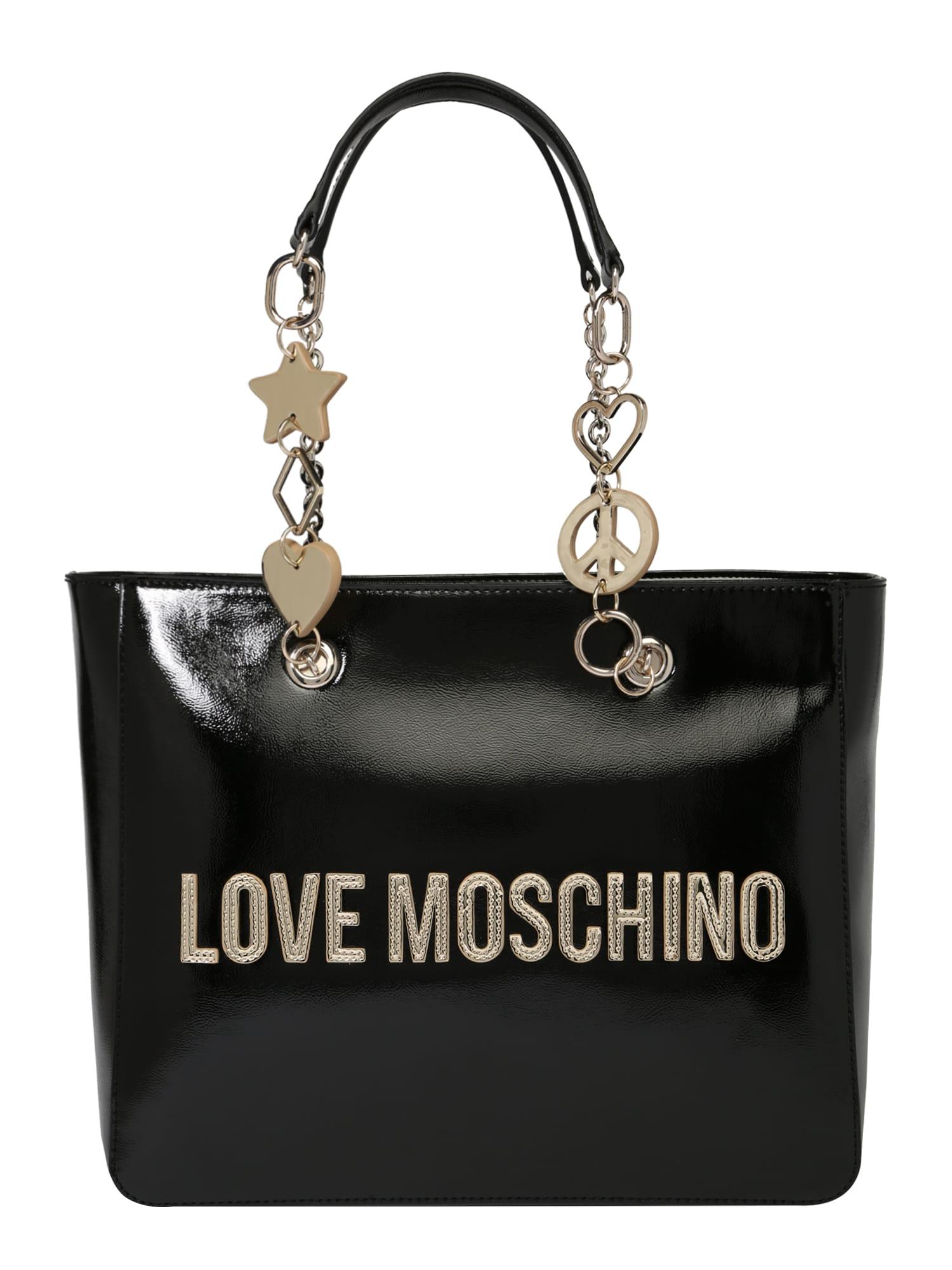 Kabelka BORSA METALLIC PU NERO černá Love Moschino