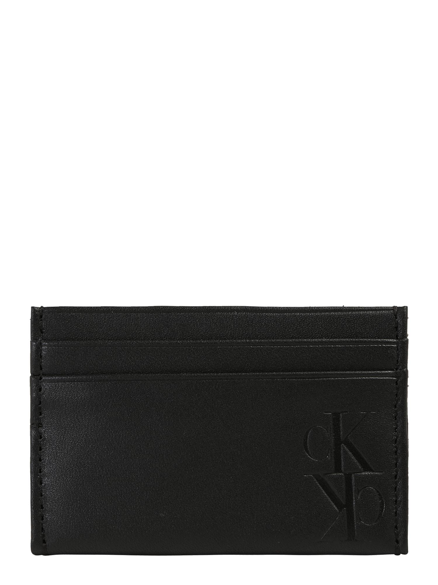 Calvin Klein Jeans Peněženka 'MIRROR MONOGRAM'  černá