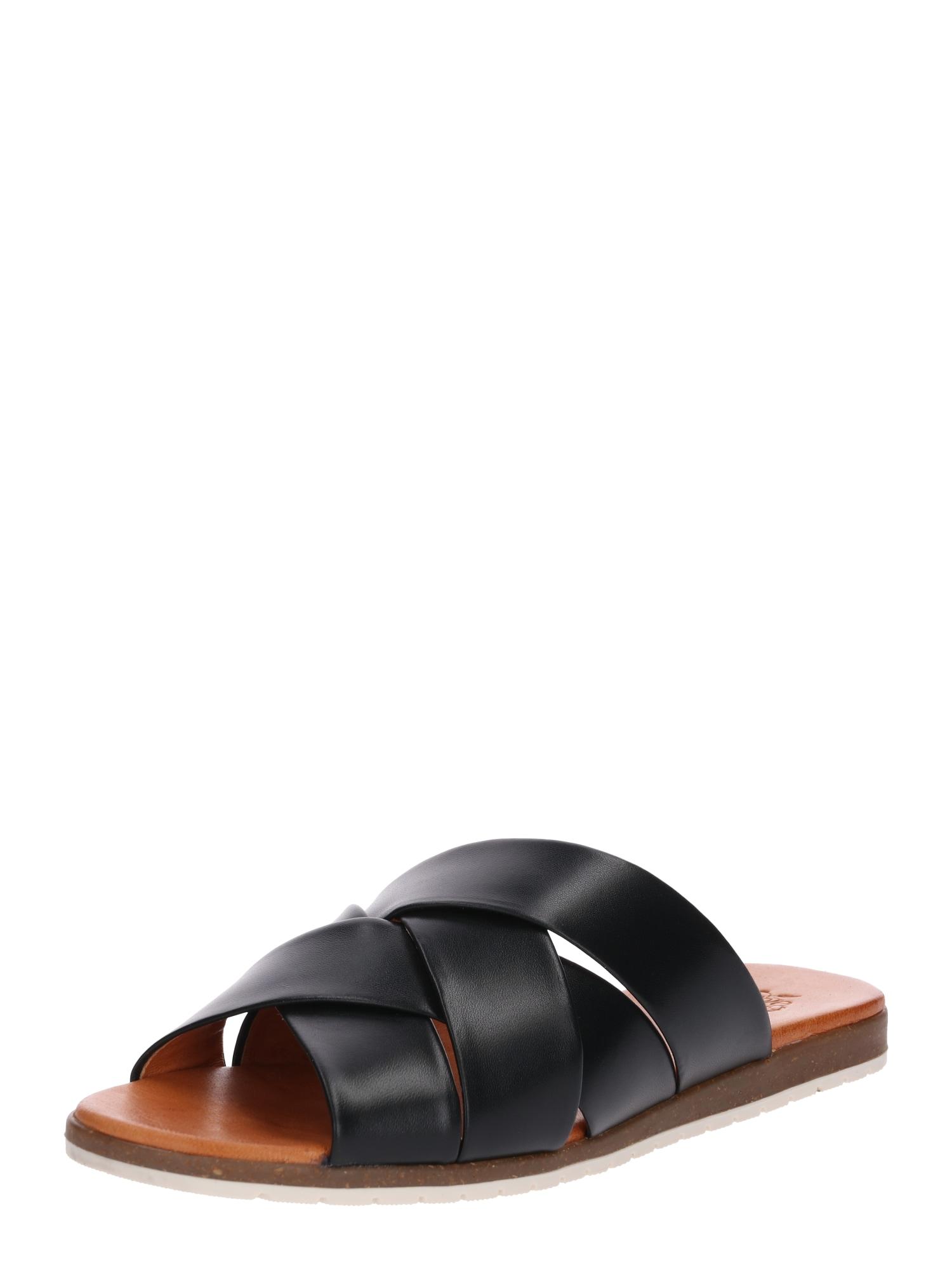 Pantofle Berta béžová černá Apple Of Eden