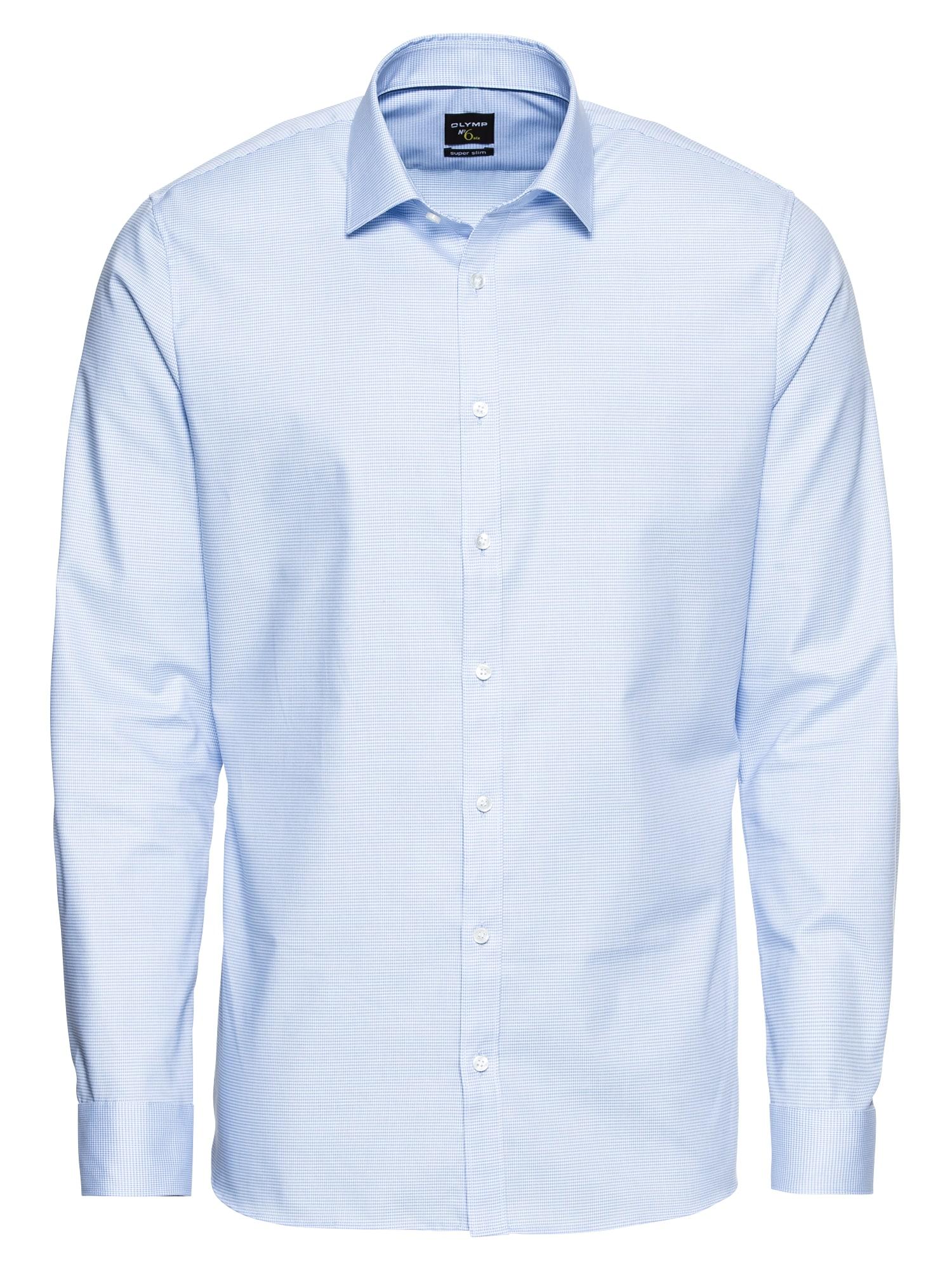 Společenská košile No. 6 Faux Uni modrá bílá OLYMP